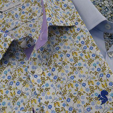 Bloemen motieven stoffen prints voor mannen hemden