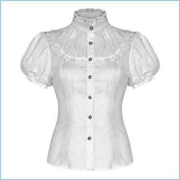 VICTORIAN BLOUSE - BLOUSE WITH A VICTORIAN COLLAR