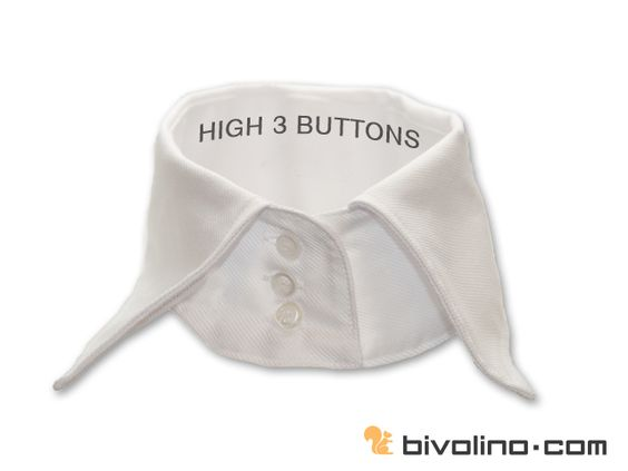 High 3 buttons collar for women