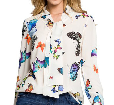 BUTTERFLY BLOUSE - BUTTERFLY PRINT BLOUSE
