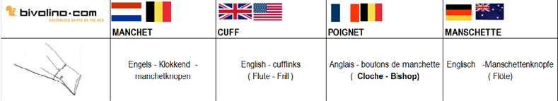 Flute Cuff – English Cuff - cufflinks