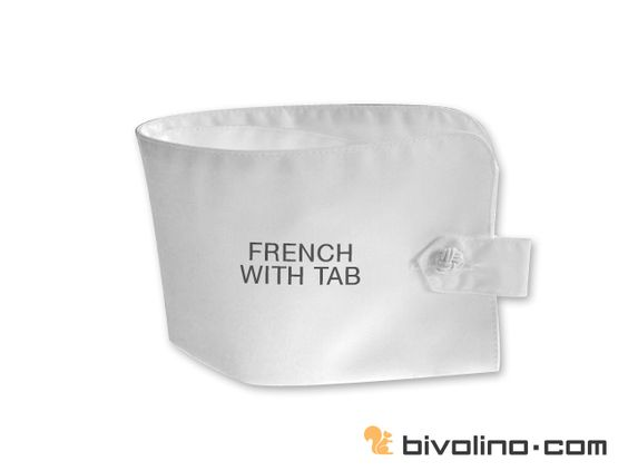 French cuff with tab