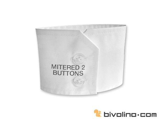 Mitered cuff 2 buttons