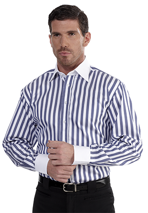 White contrast collar mens shirts