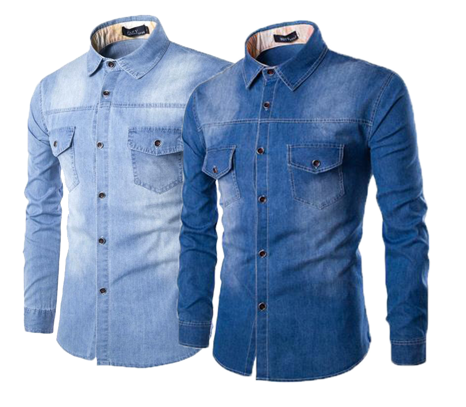 DENIM HEMD - SPIJKERHEMD - DENIM SHIRT - DENIM BLOES
