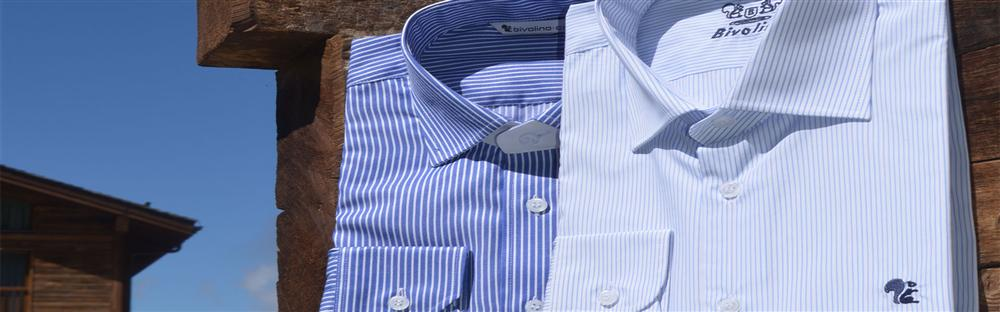 Egyptian cotton two-fold shirts for men