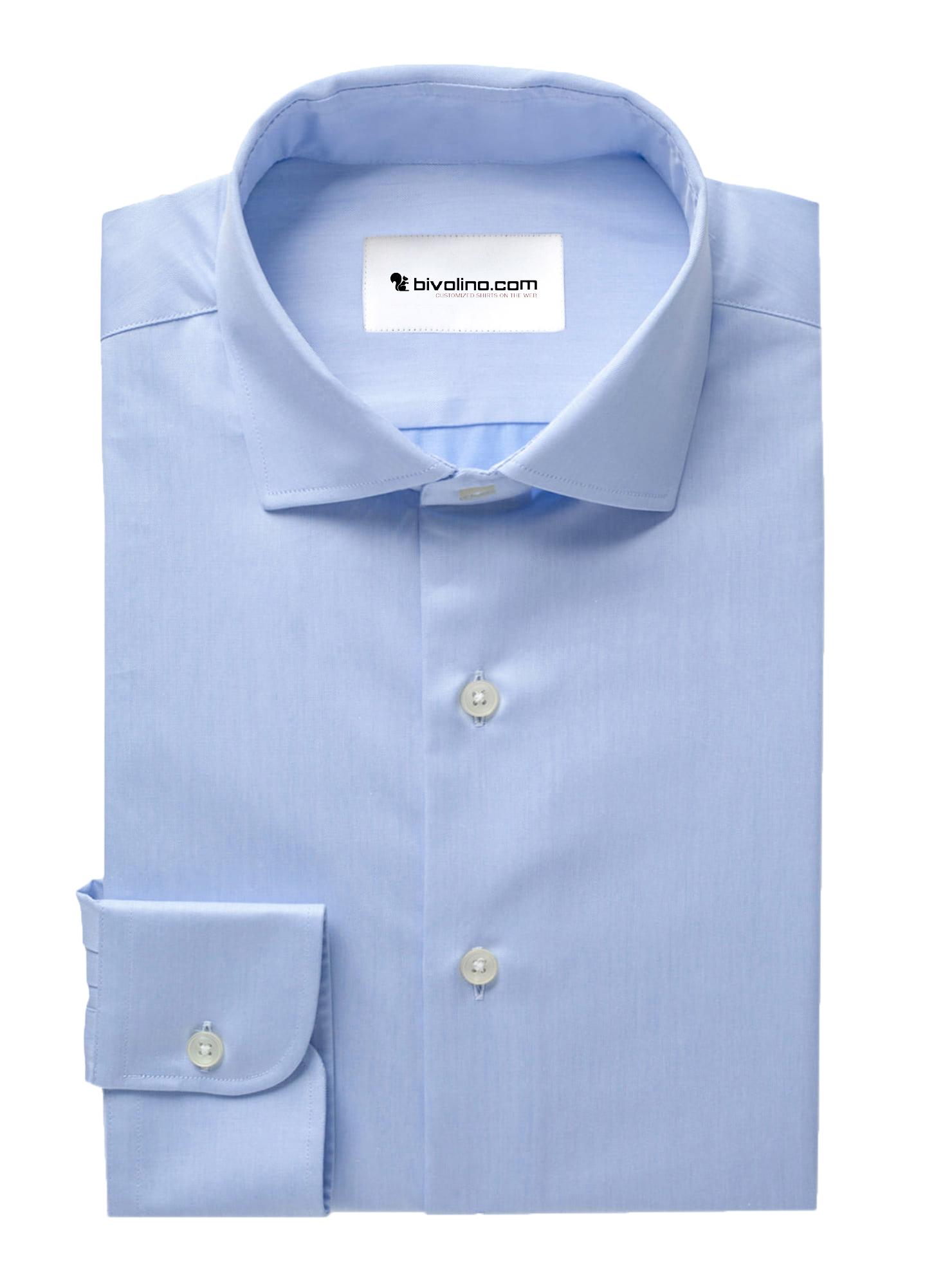 PRISARIO - hemelsblauwe visgraat overhemd - PEGLI 2