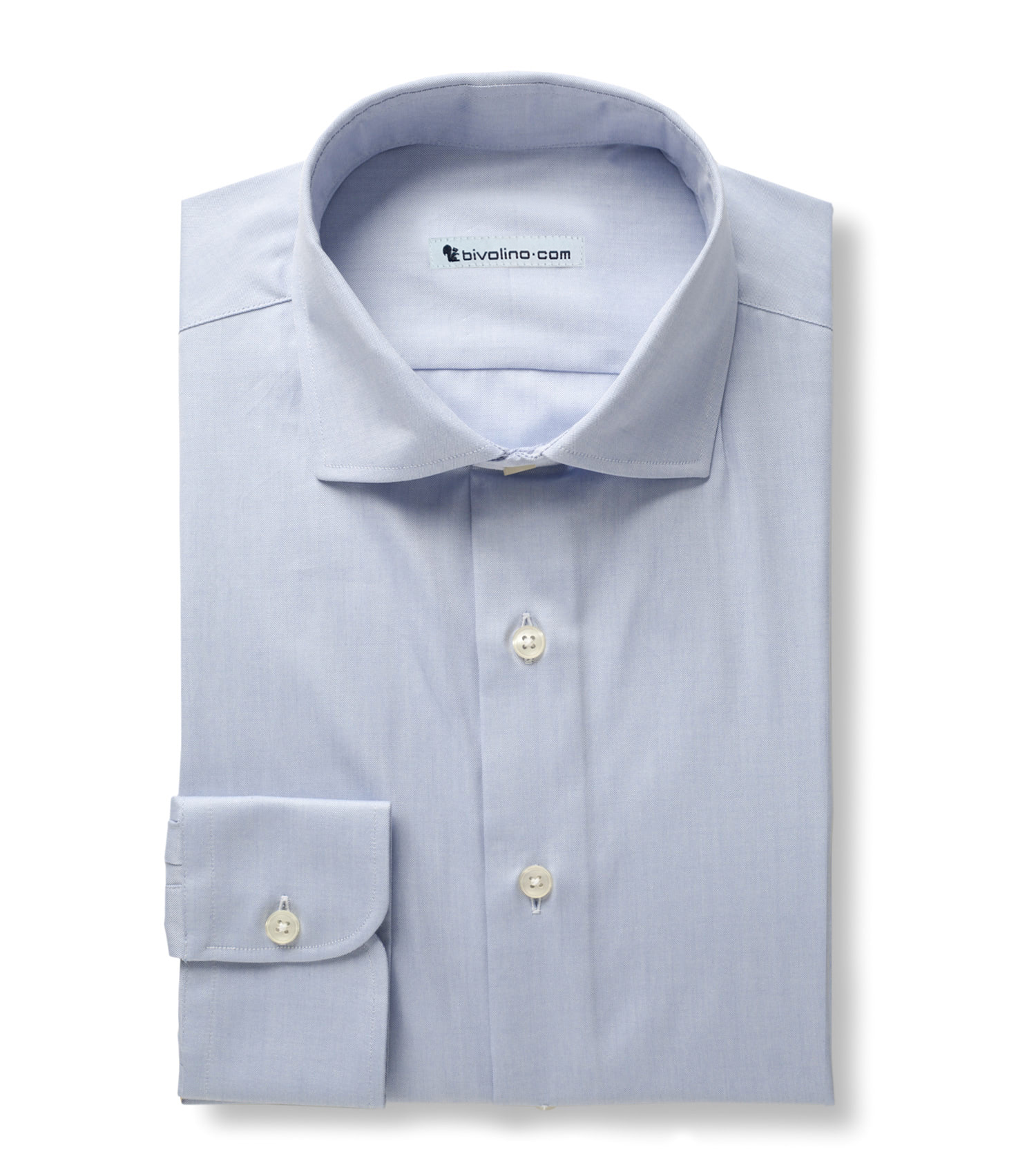 MANESTRA - Pinpoint Shirt plain light blue - KIWI 3