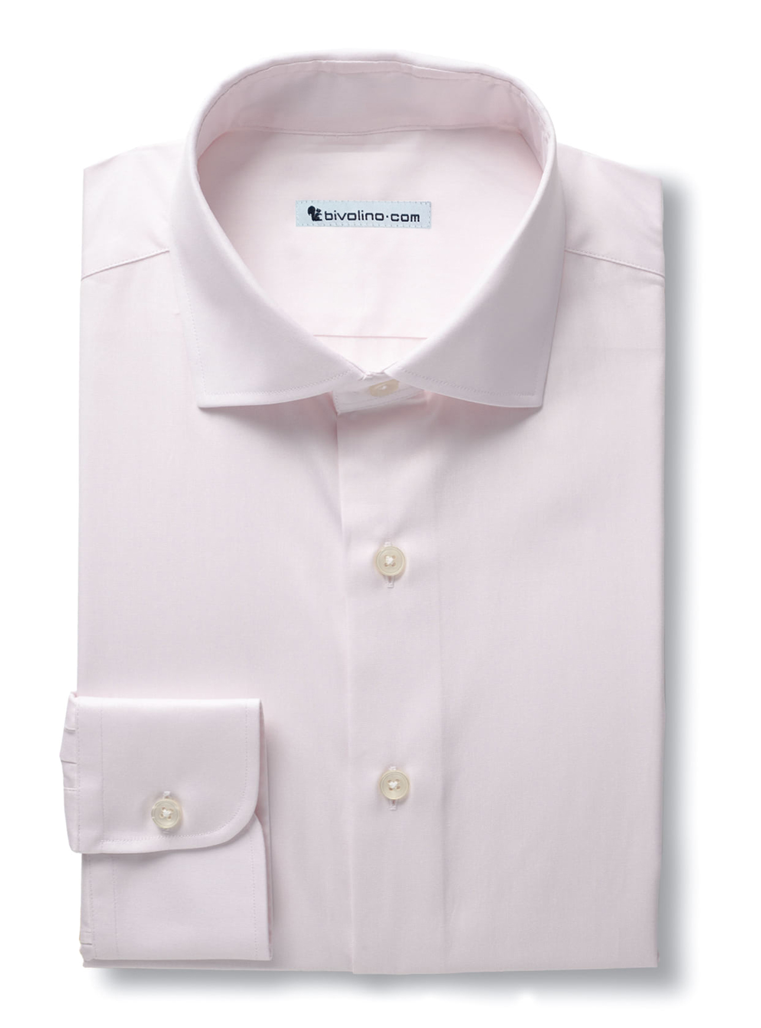 CANCILLIANO - Plain pink-ecru poplin shirt - CANCLI 2