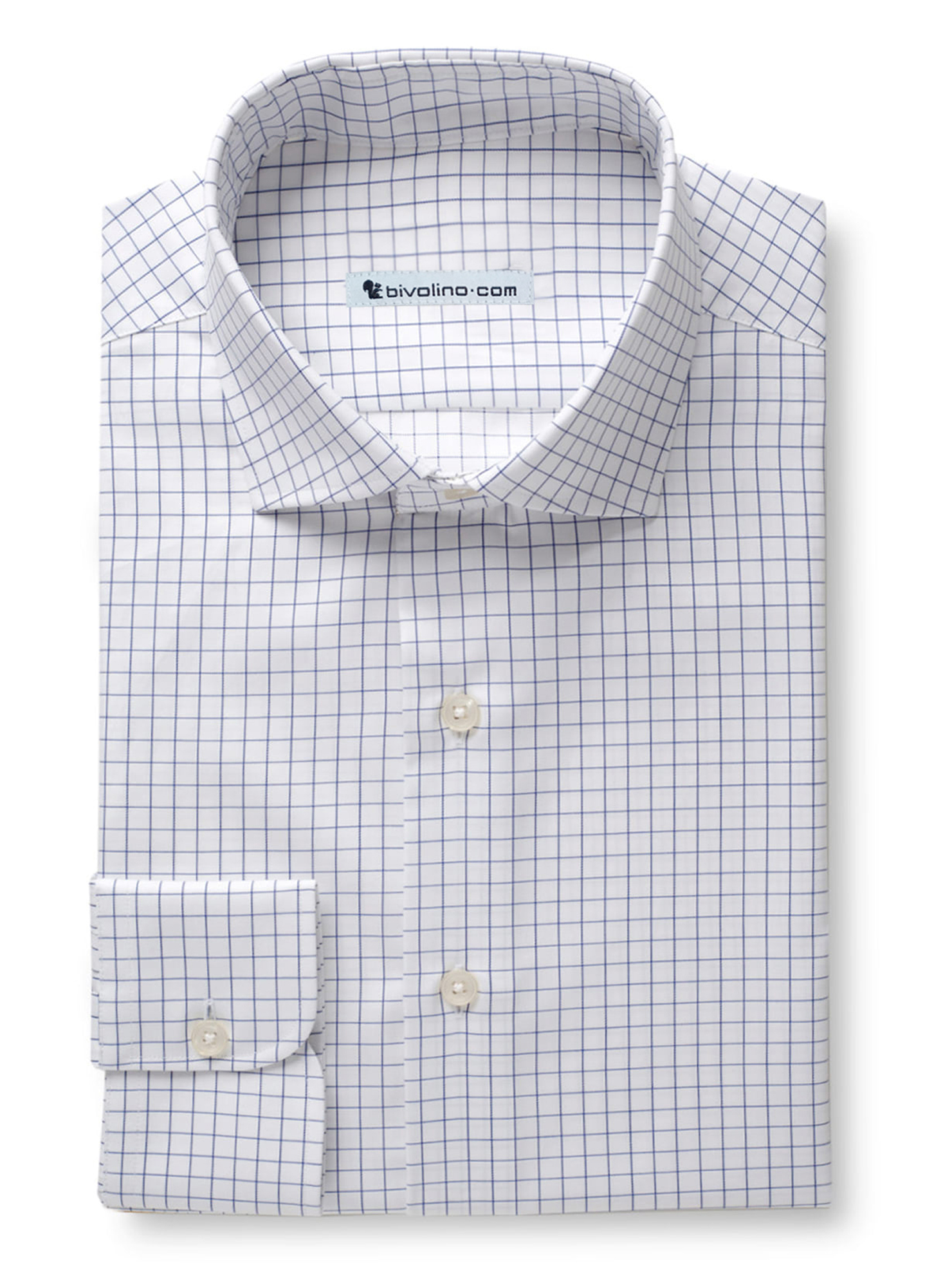 BELGRIBA - Navy blue check twill shirt - DARCi 3