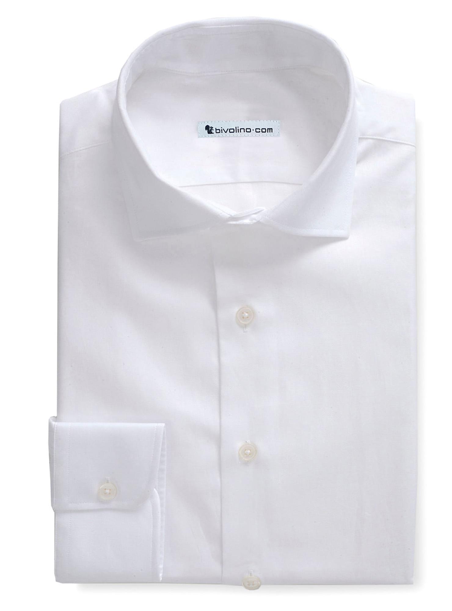 ELUGE -  White Herringbone shirt - PEGLI 1