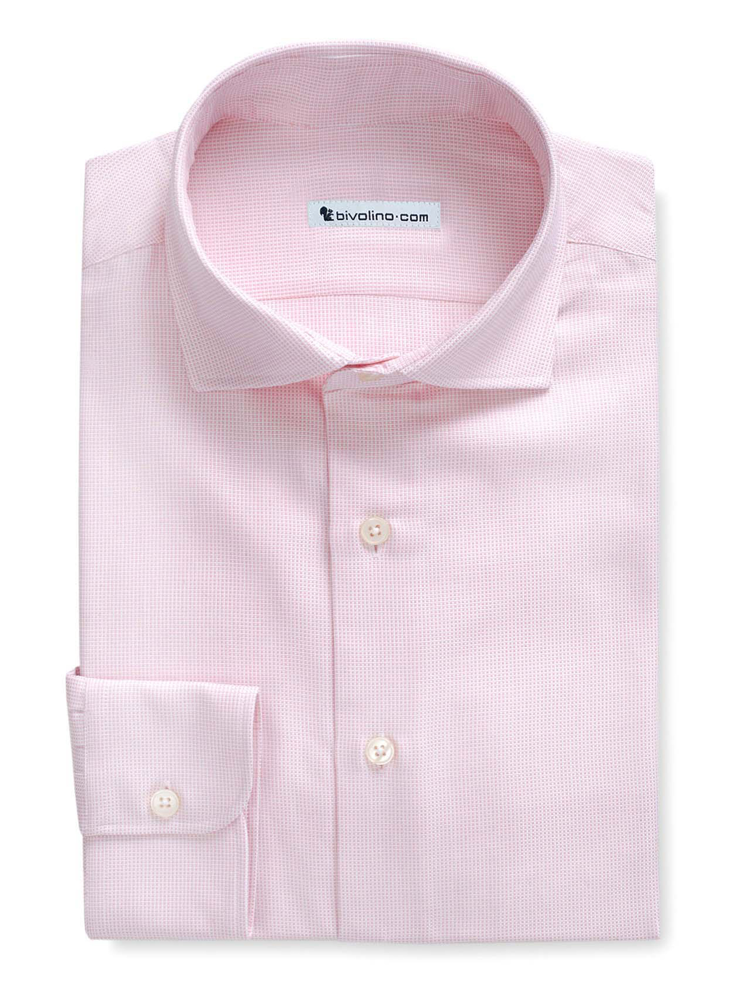 PANIMANO - Oxford solid pink shirt  - ROYAL PANAMA 2