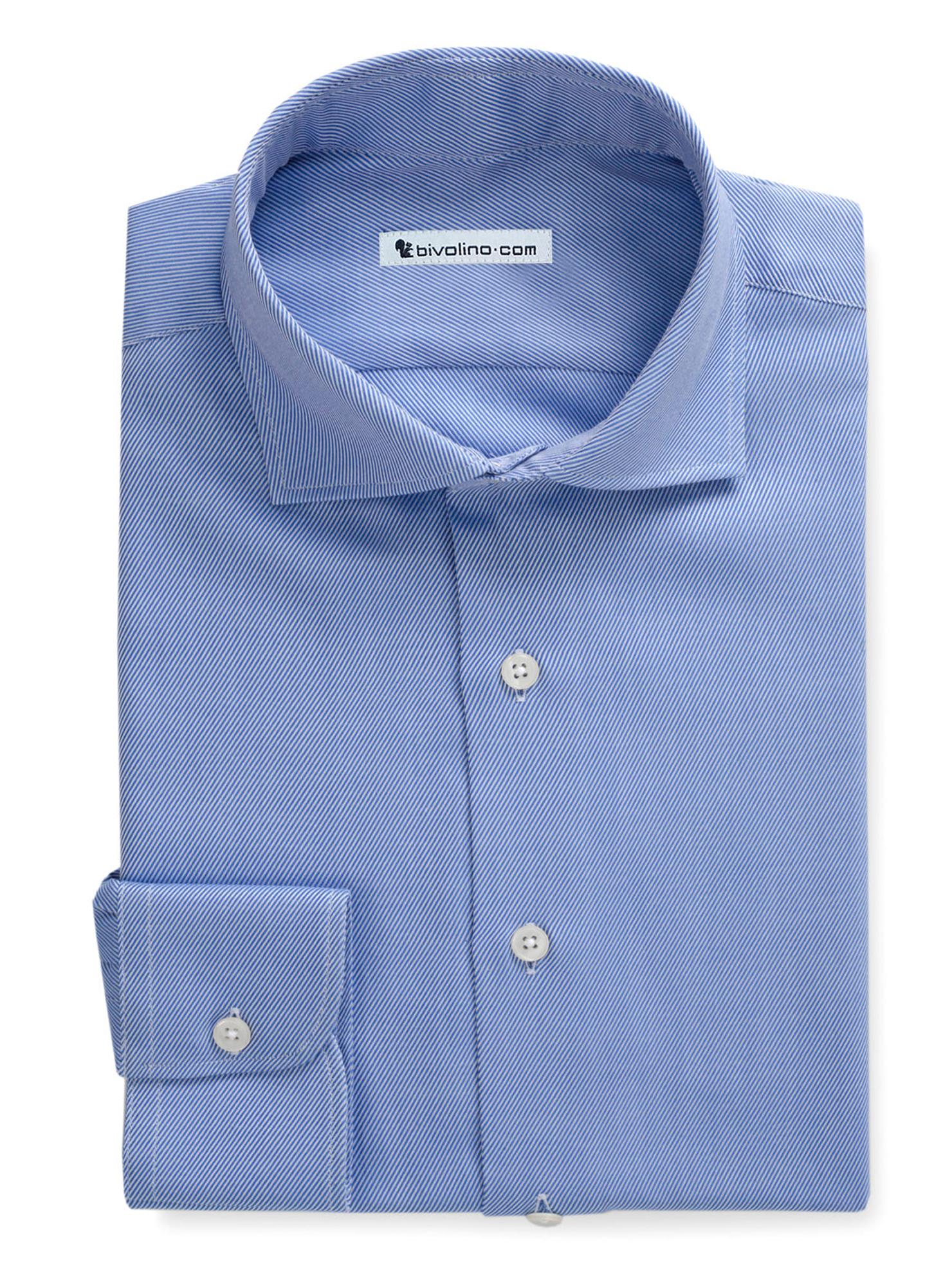 PERIGLIANO - Blauwe Twill overhemd  - ROCO 3