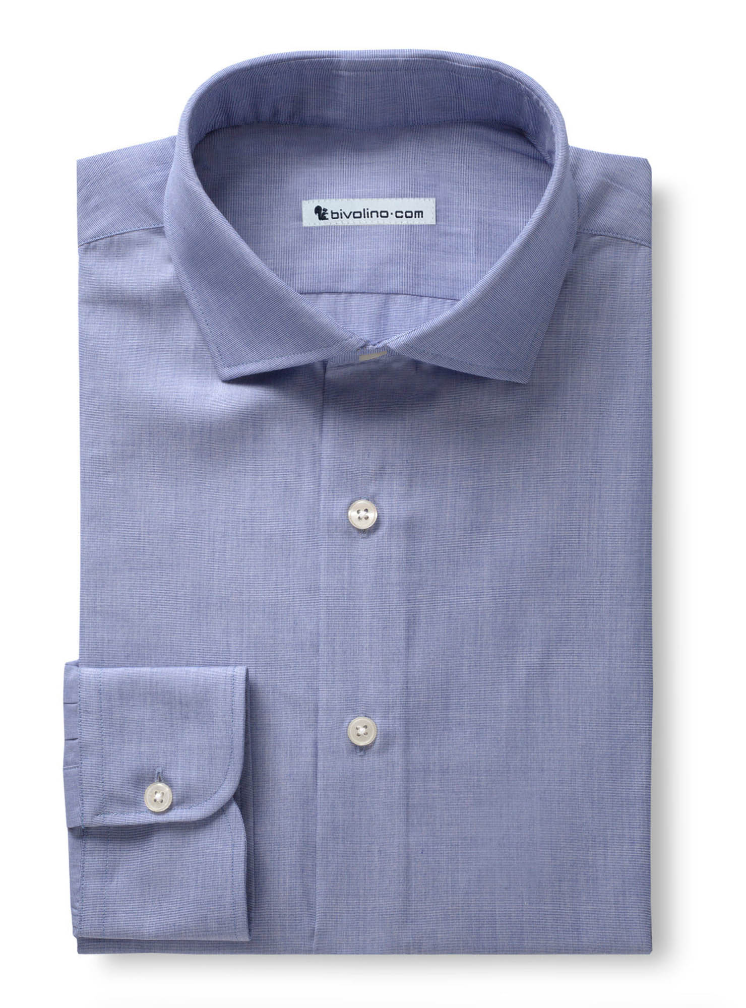 DELIARO - Light blue Shirt End-on-End - PARTY 4