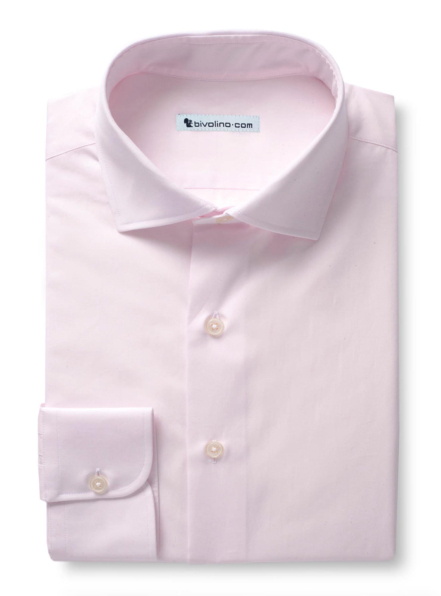 QURRI - Plain pale pink pin-point shirt - Easy ironing - OFFERD 2