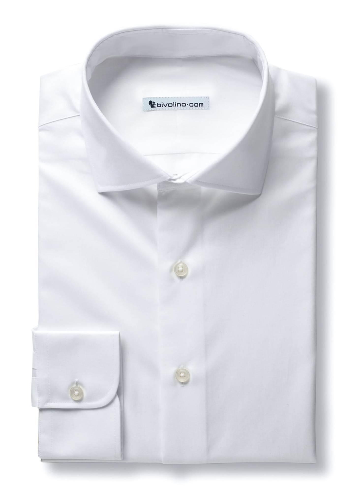 ESTILLI - Plain white twill - non-iron - SANTI 1