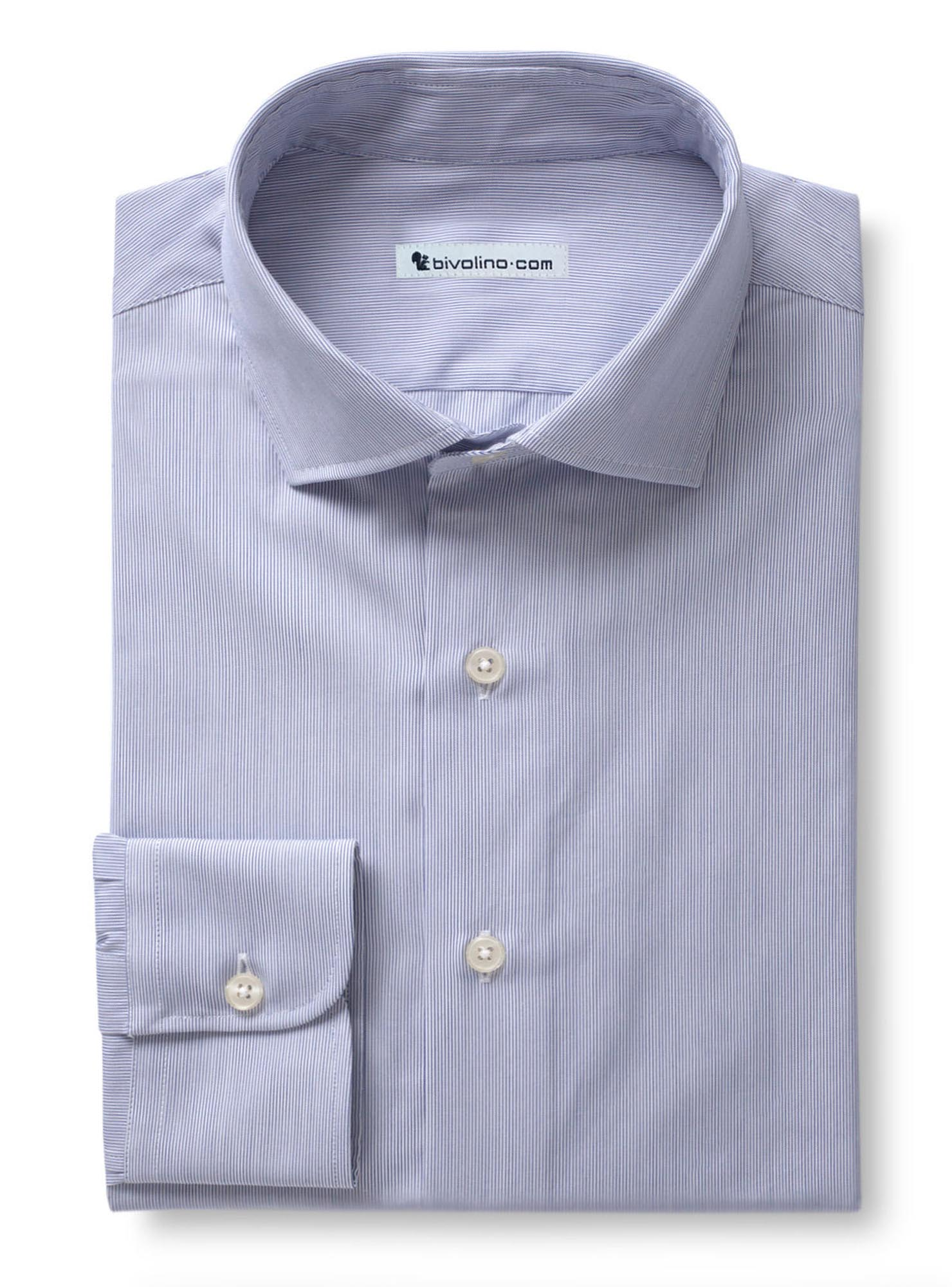 SPECIA - Light blue striped poplin - TUFO 5