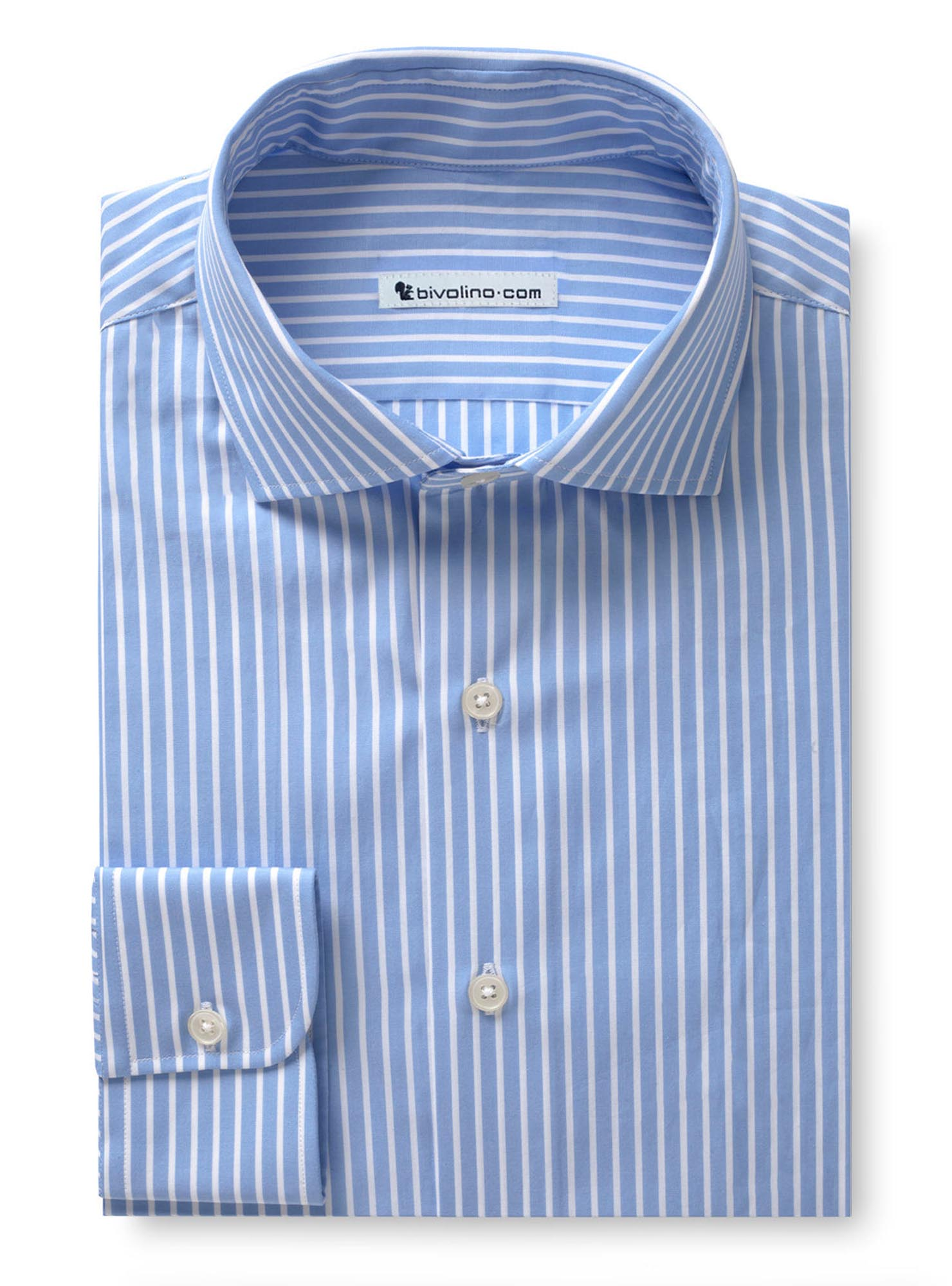 DIGEA - Poplin light blue striped shirt - TUFO 2