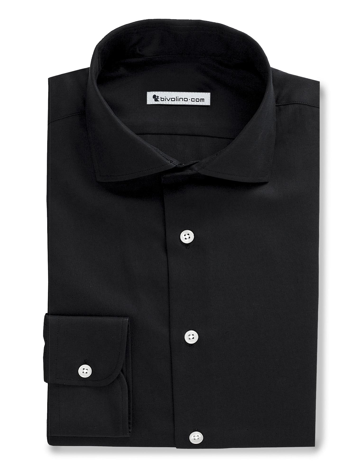 ROLO - zwart popeline overhemd - Dana 4