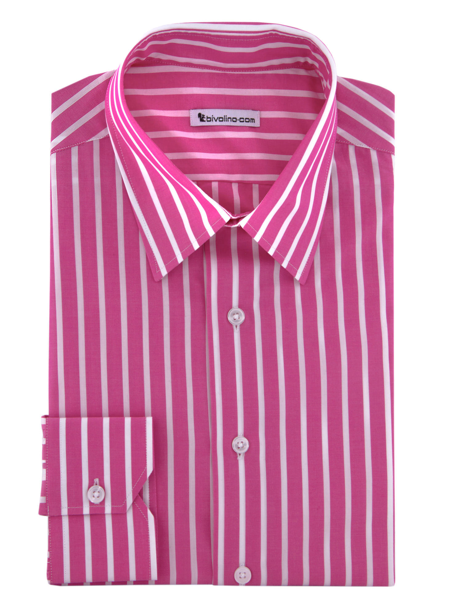 SAVONA - Rose popeline strepen overhemd - TREX 1