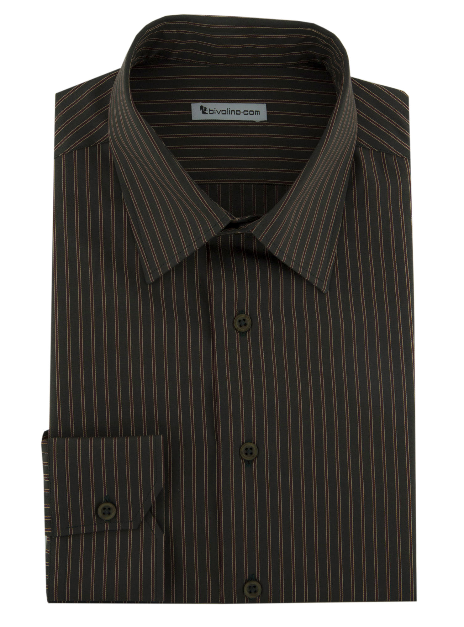 EDOLO - Poplin shirt striped green-bordeaux  - CIFRA 6