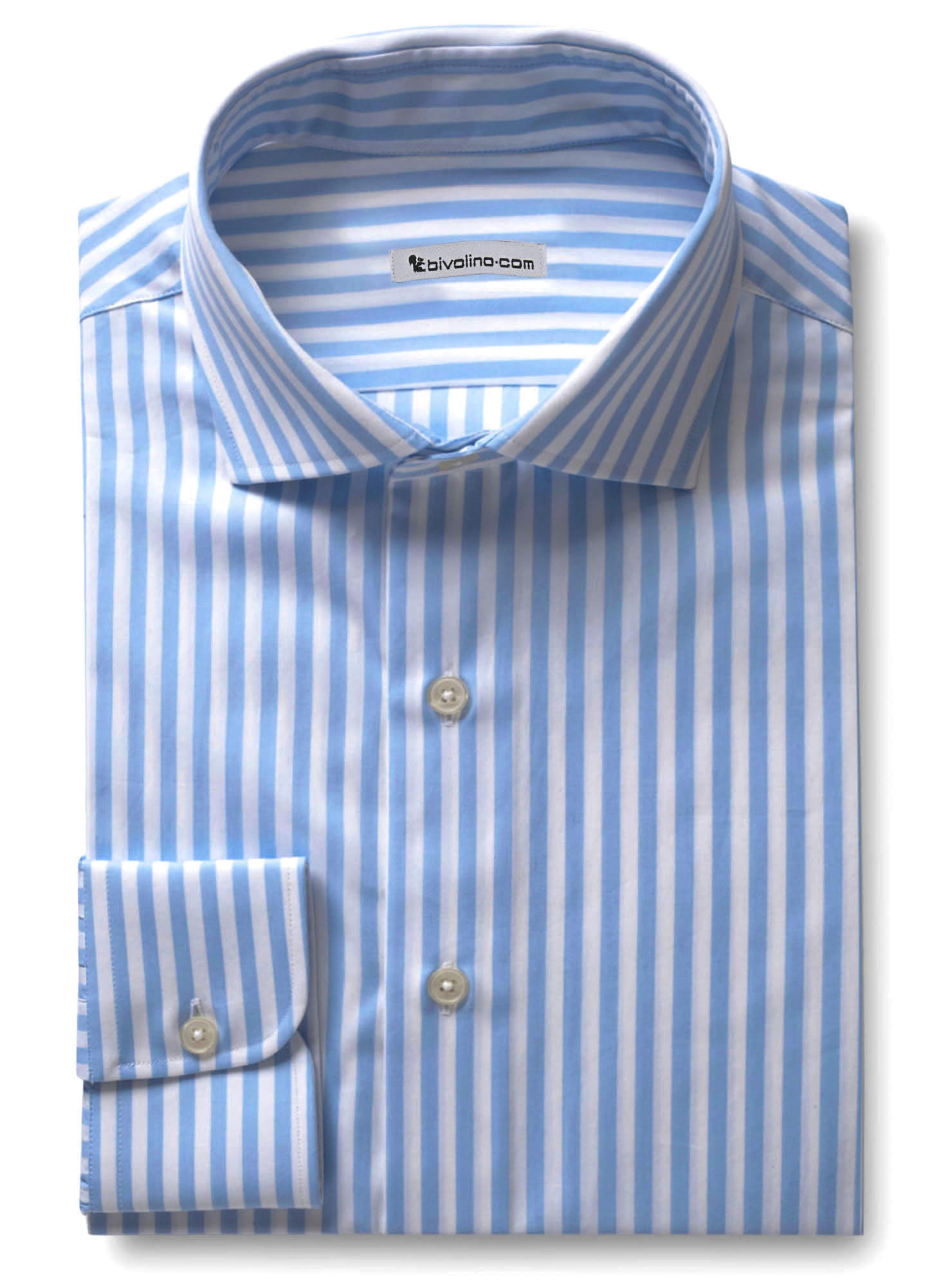 Vanzo - Poplin Striped shirt blue-white - WINDY 5