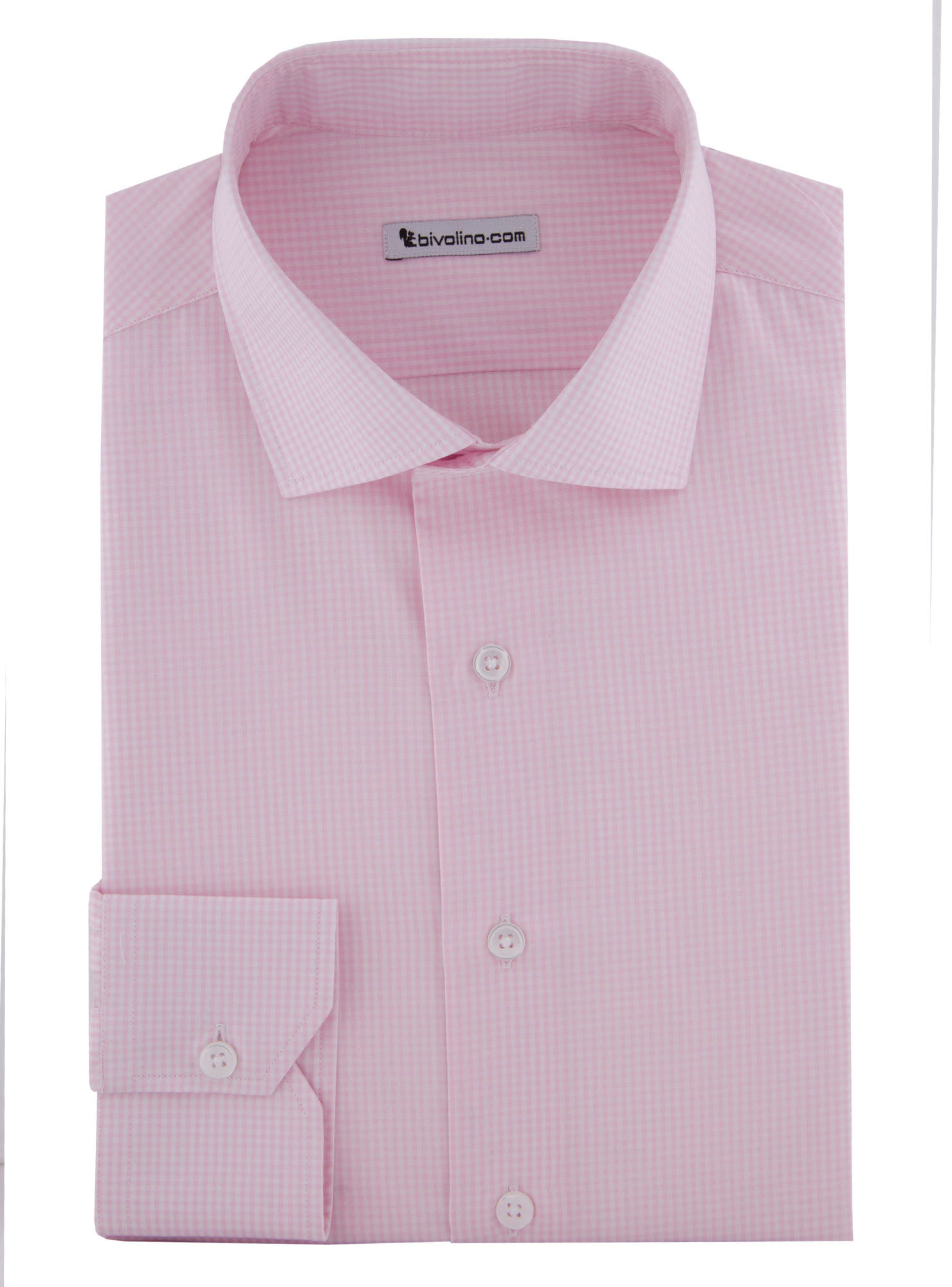 ROSI - Easy-care gingham pink shirt - KENTO 1