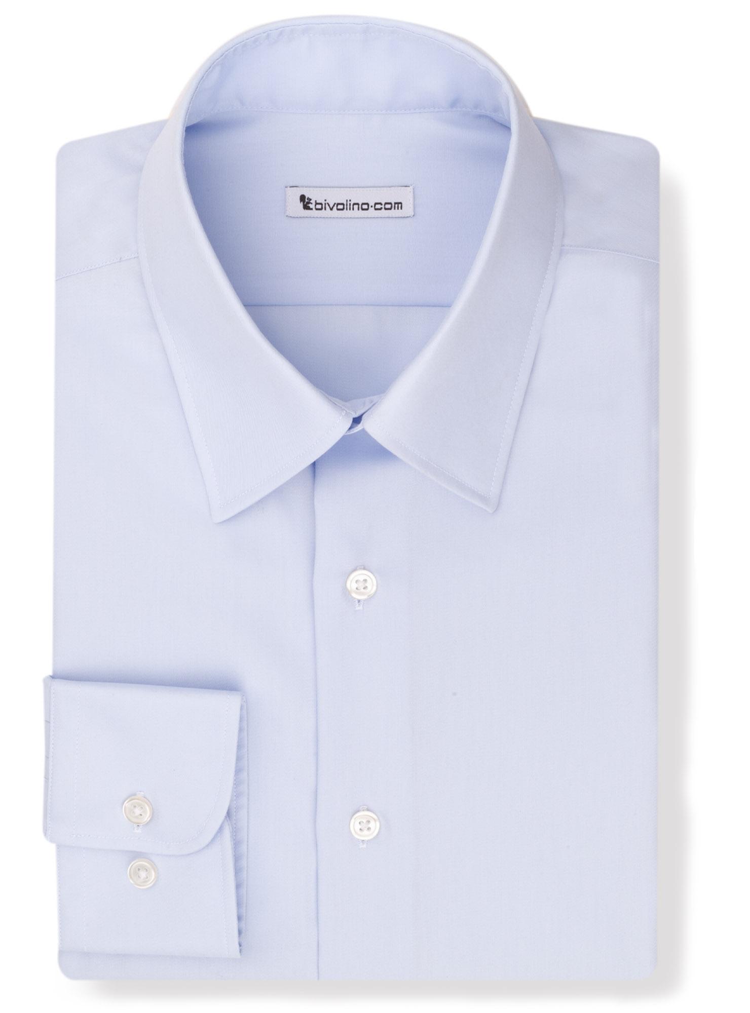 GREBALDINI -   Blauw strijkvrij twill hemd  - Opal 2