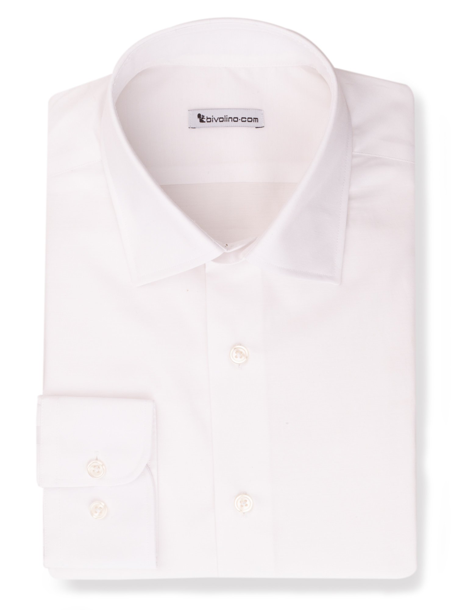 LERIACOTI -  White poplin easy-care shirt - Areca 1