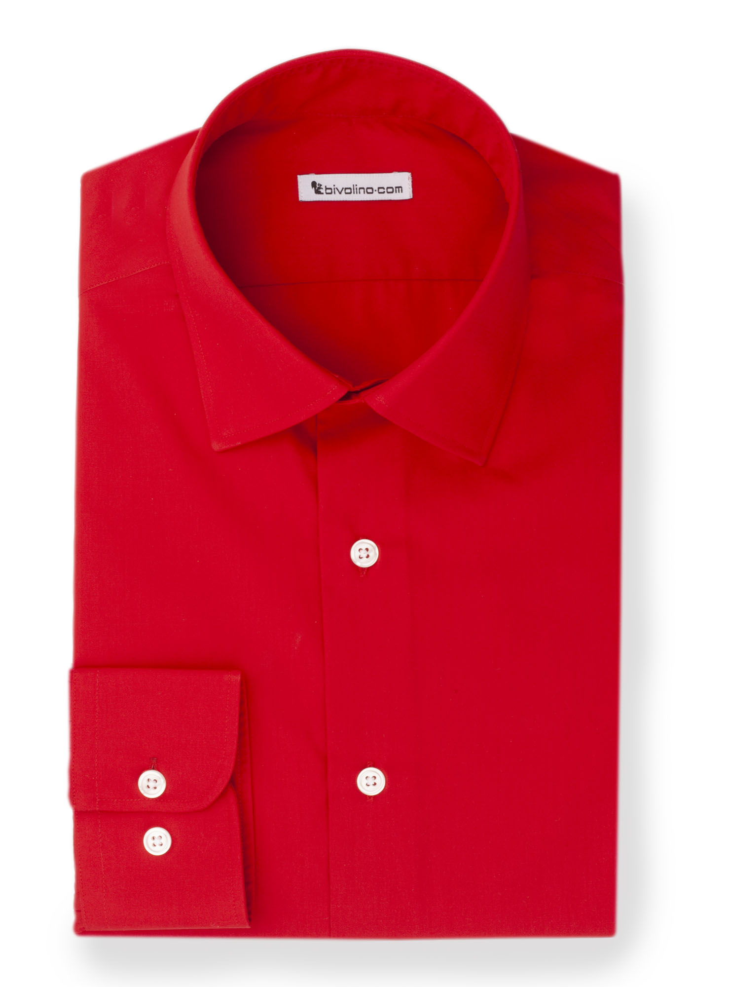 PERFILI-  red poplin shirt - Brise 1