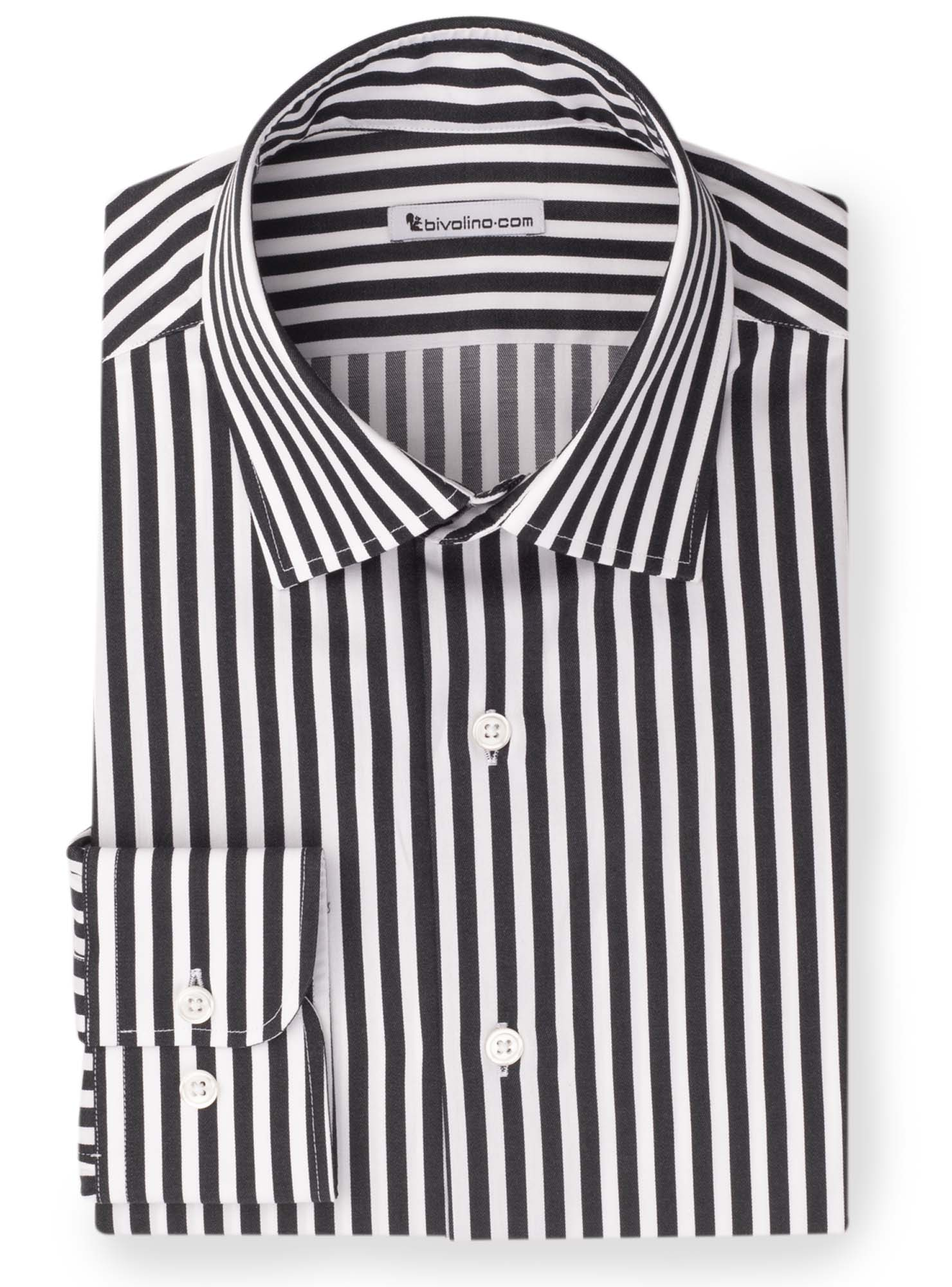LUCOCINI -  Black striped shirt - Mage 5