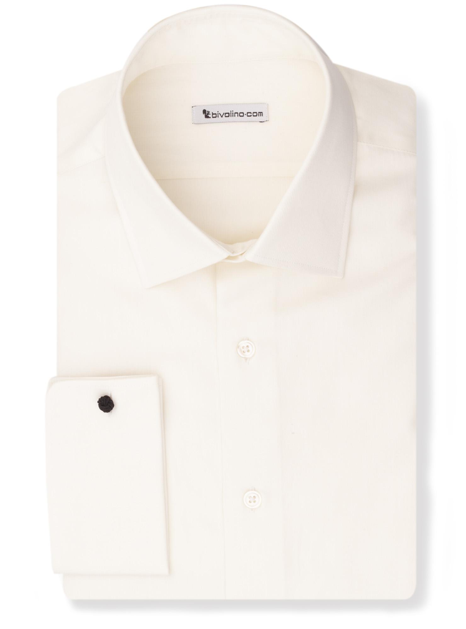 SPINICIA -  ivory poplin shirt - Spira 2