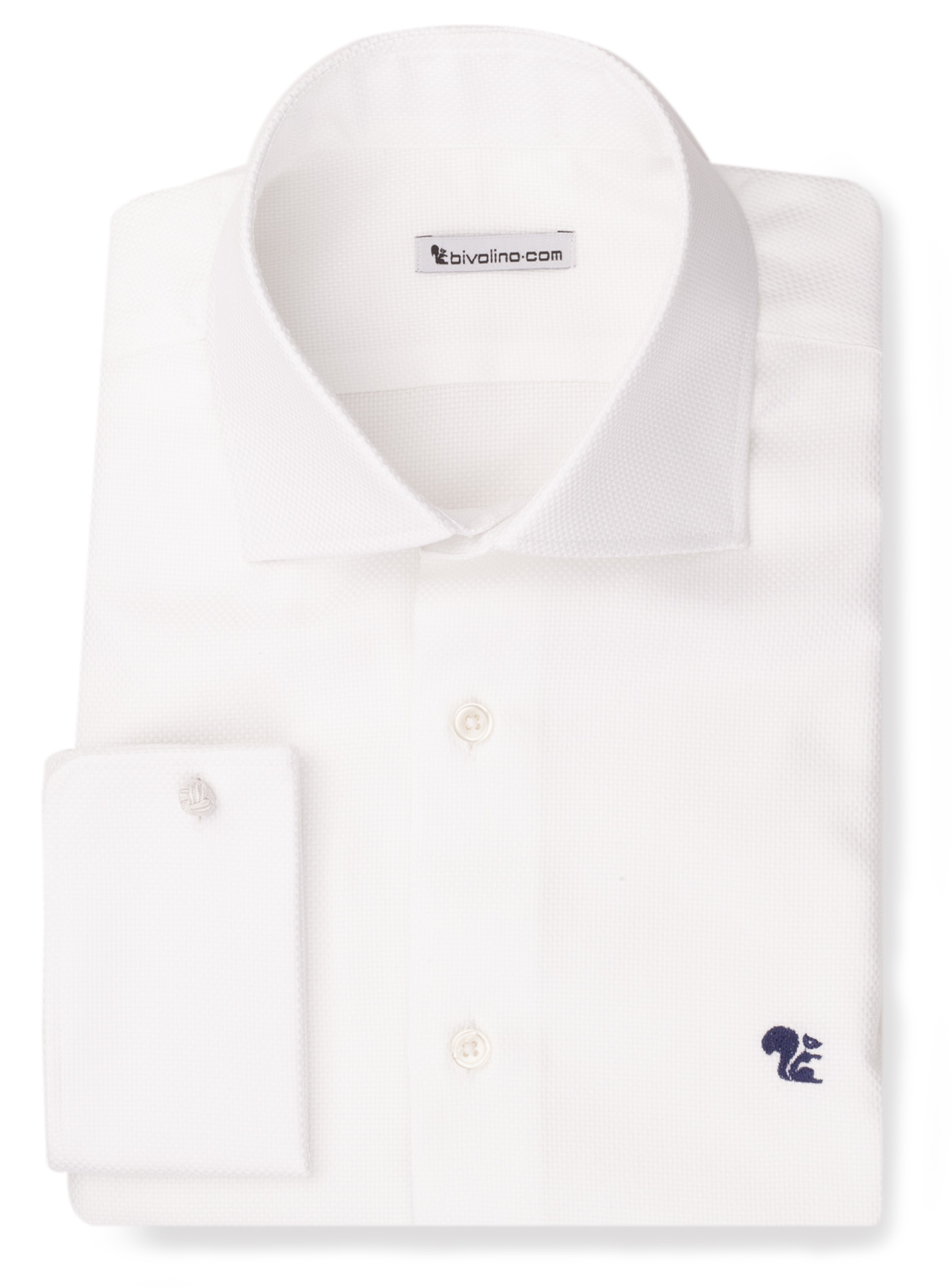 BEDFILIO -  Chemise blanche dobby  - Bedford 1