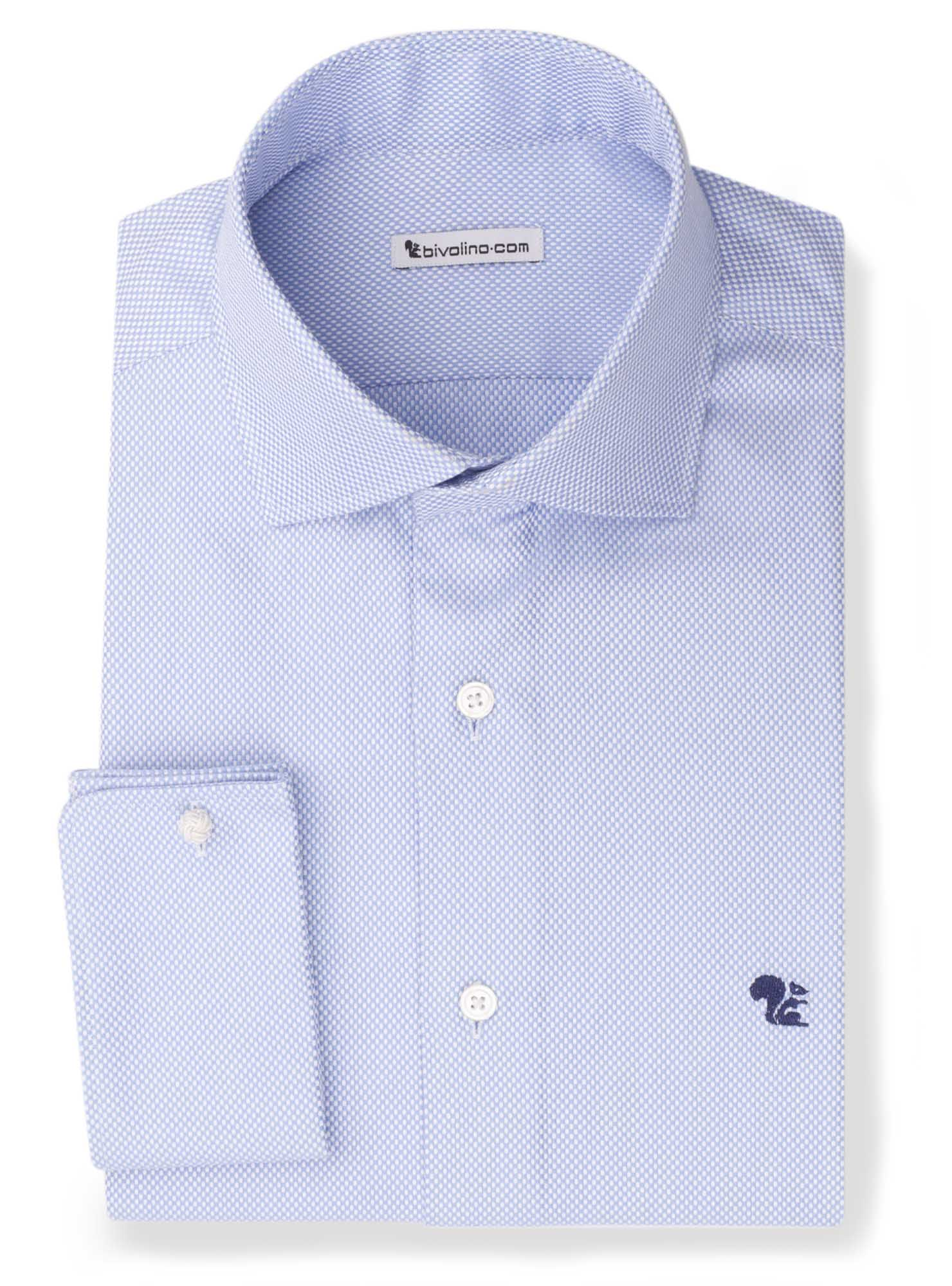BIDFILIANO - Blue dobby shirt - Bedford 2