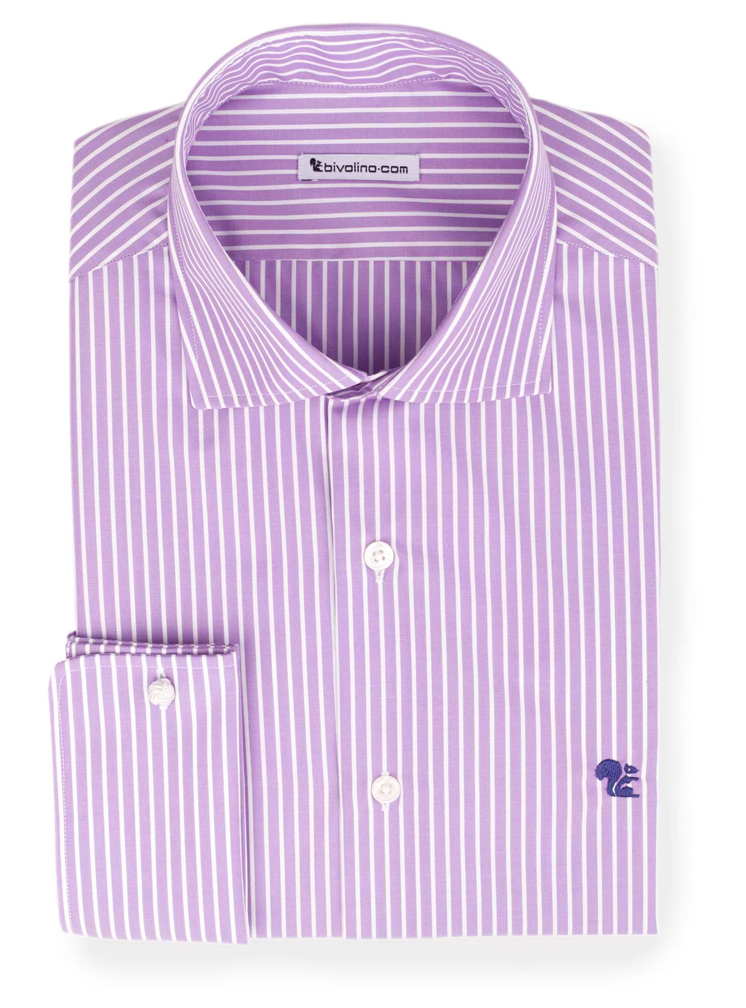 TUFIANO - Poplin lila striped shirt - Tufo 6