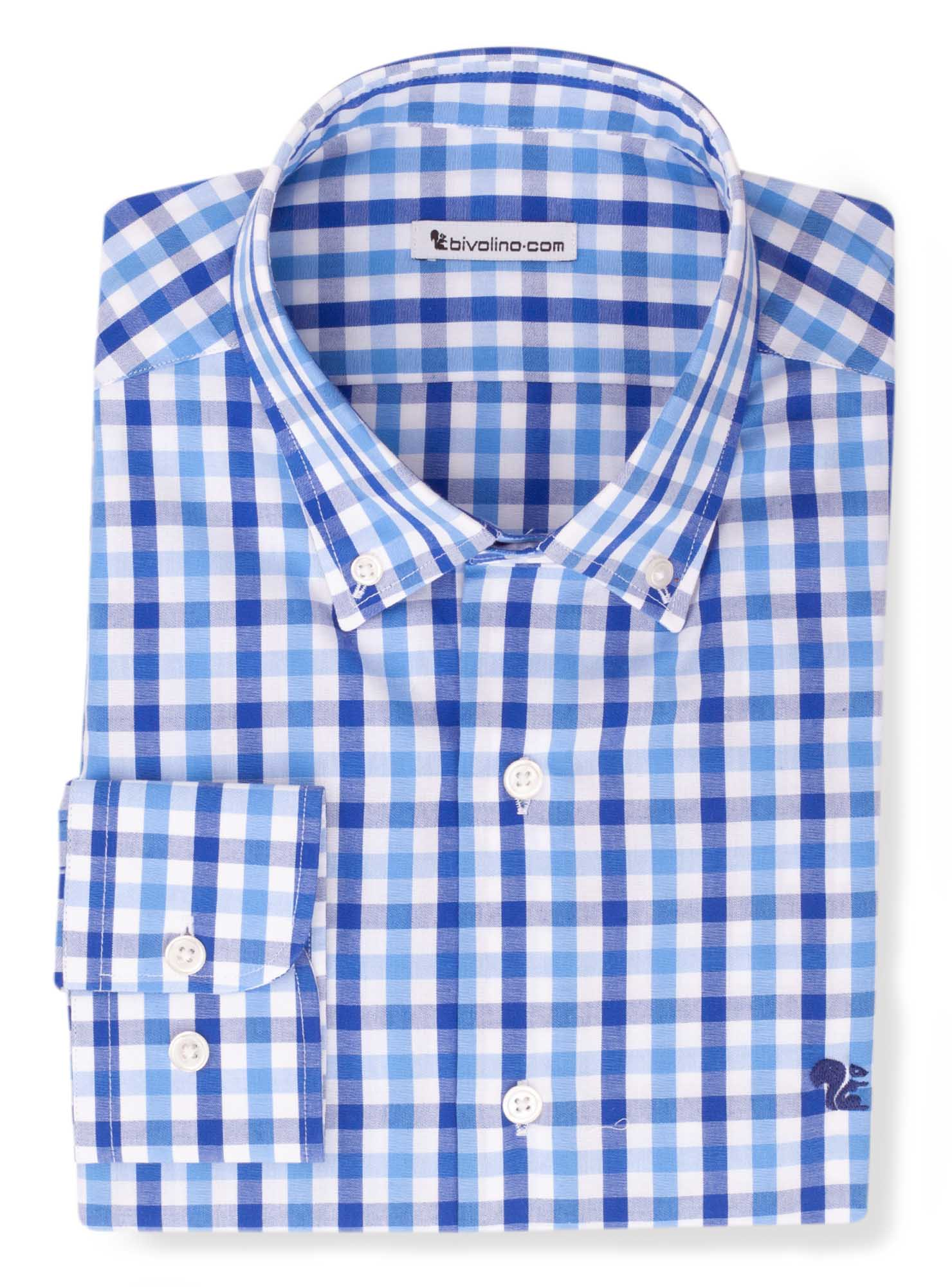 KAMMI - Poplin navy gingham check shirt - Kamik 3