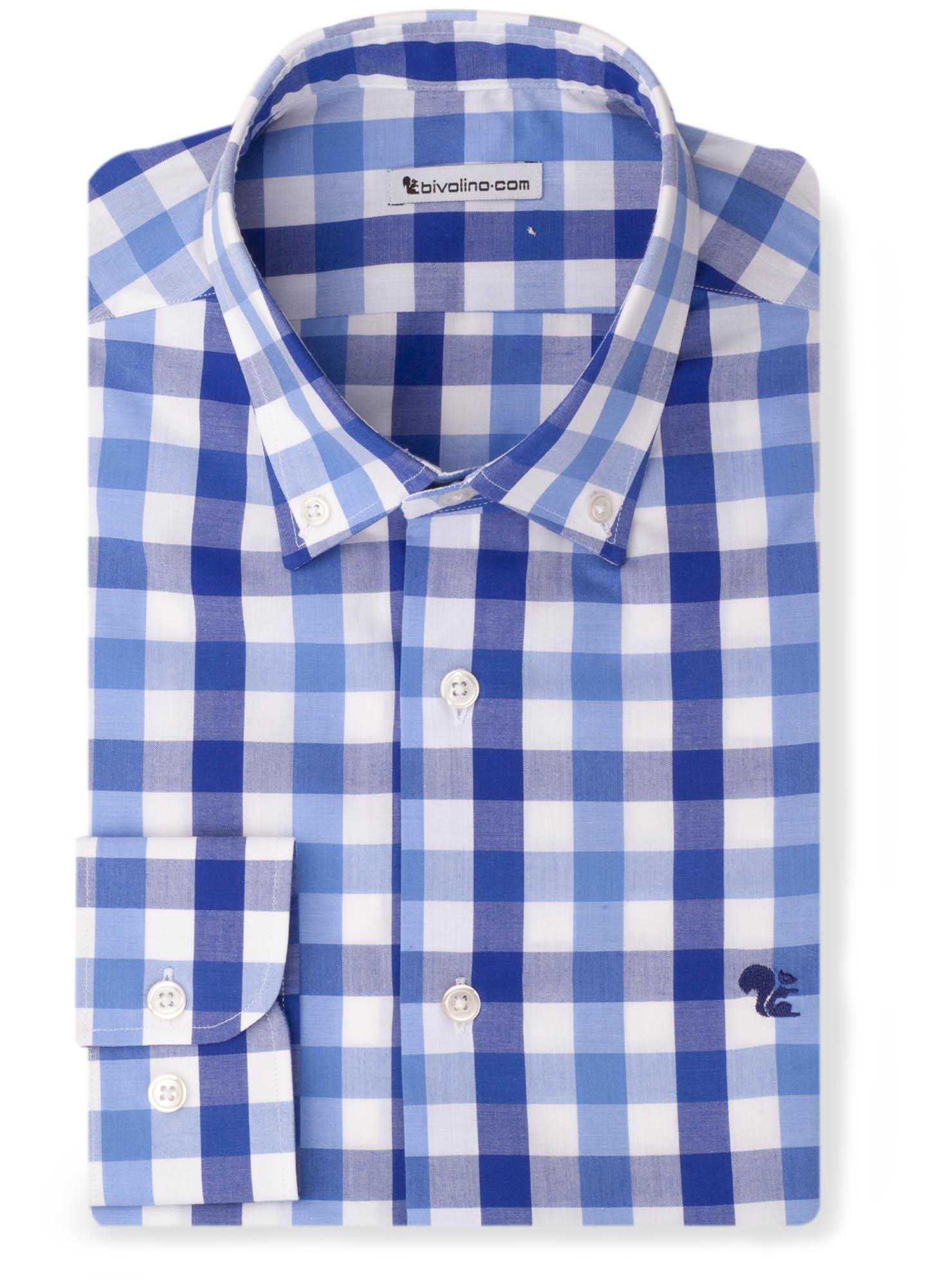 LADOBORA - madras ruit popeline overhemd - LADO 2