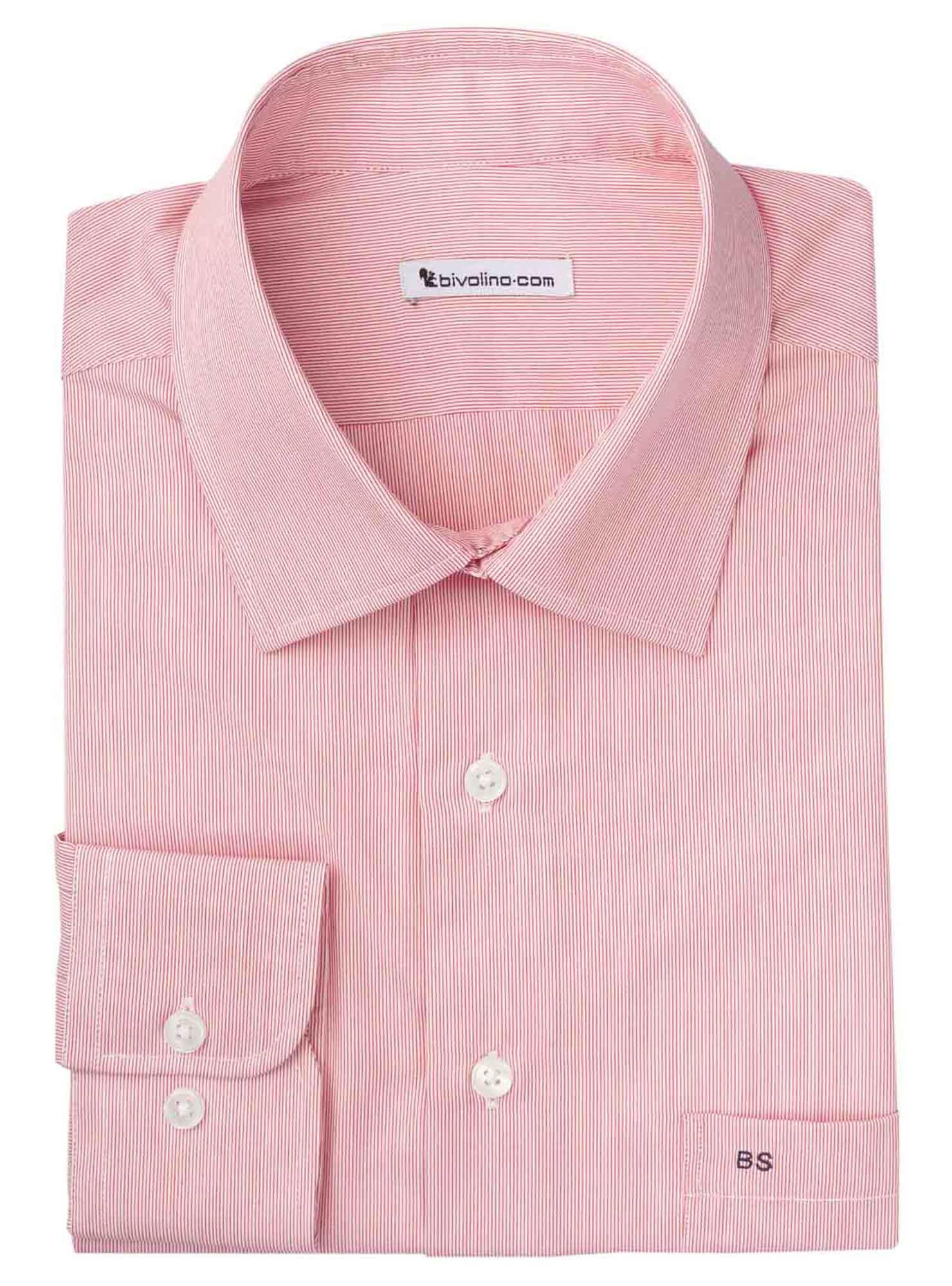 RANDUZZI - Männerhemd Baumwolle  rote Streifen - WINDY 4