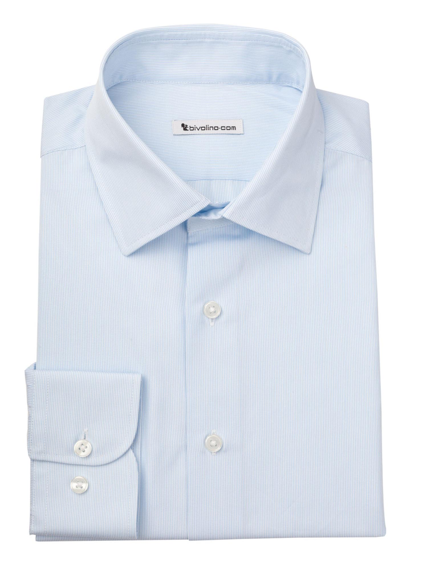 OSPEDALETTO - men's shirt cotton two-fold 2ply Egyptian blue - DOCRA 6