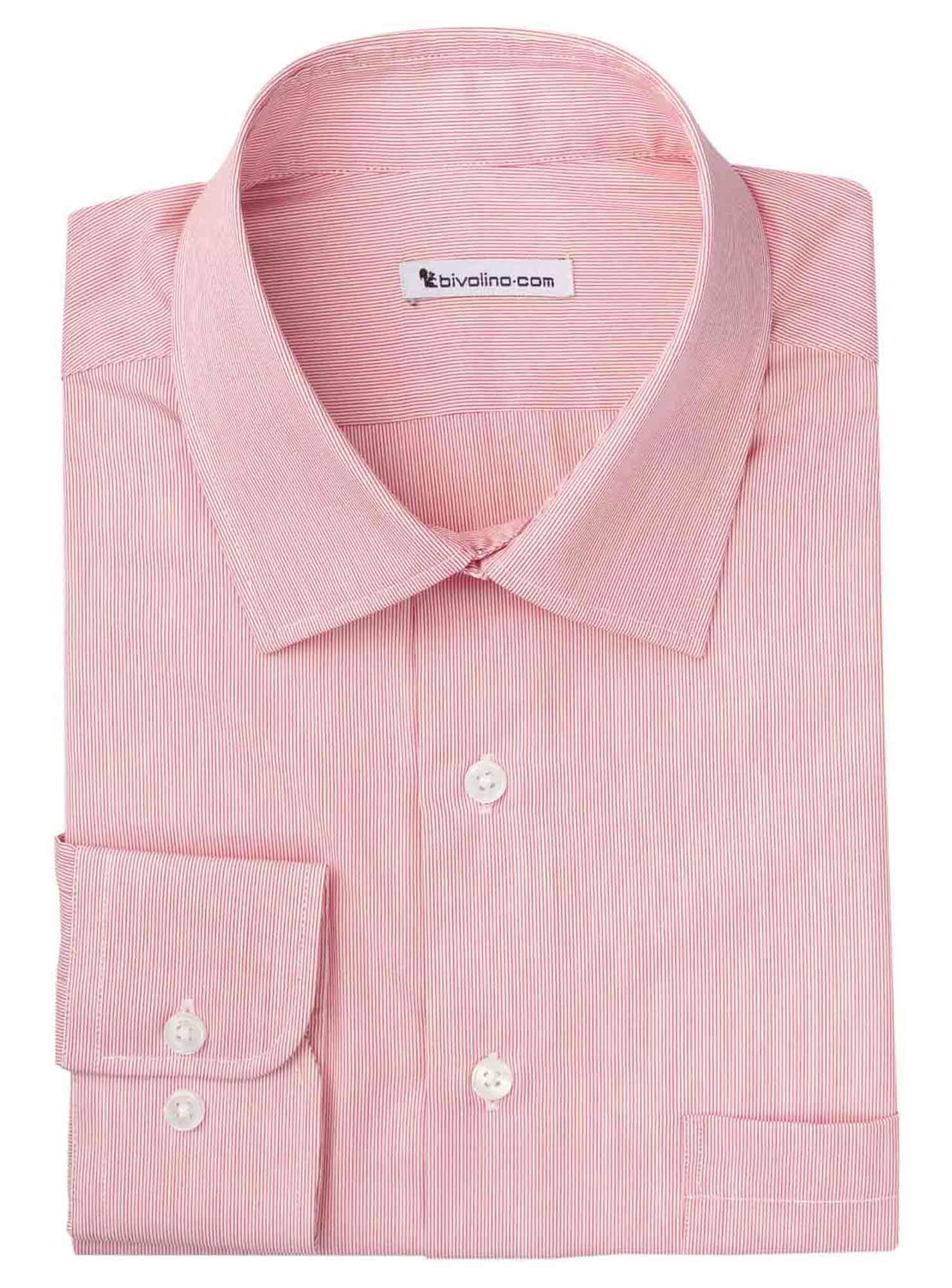 RANDUZZI - Men's shirt cotton red stripe - WINDY 4