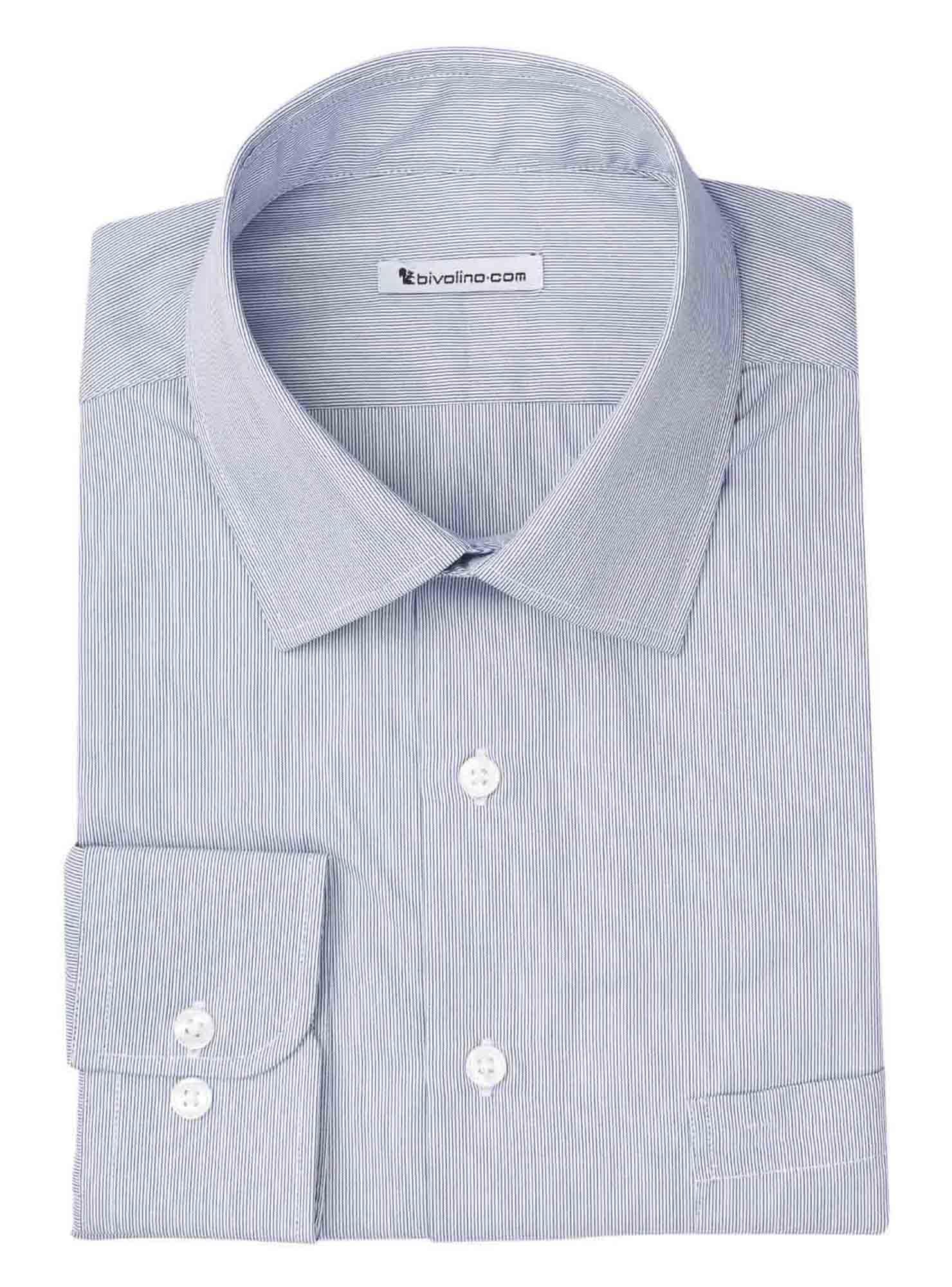 PICCINELLI - Men's shirt cotton milleraye - TUFO 5