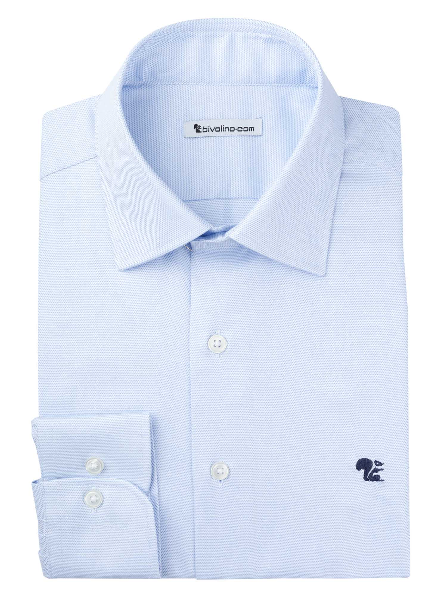 BOLZANO - Men's Shirt dobby oxford - ROYAL PANAMA 3-REPTON