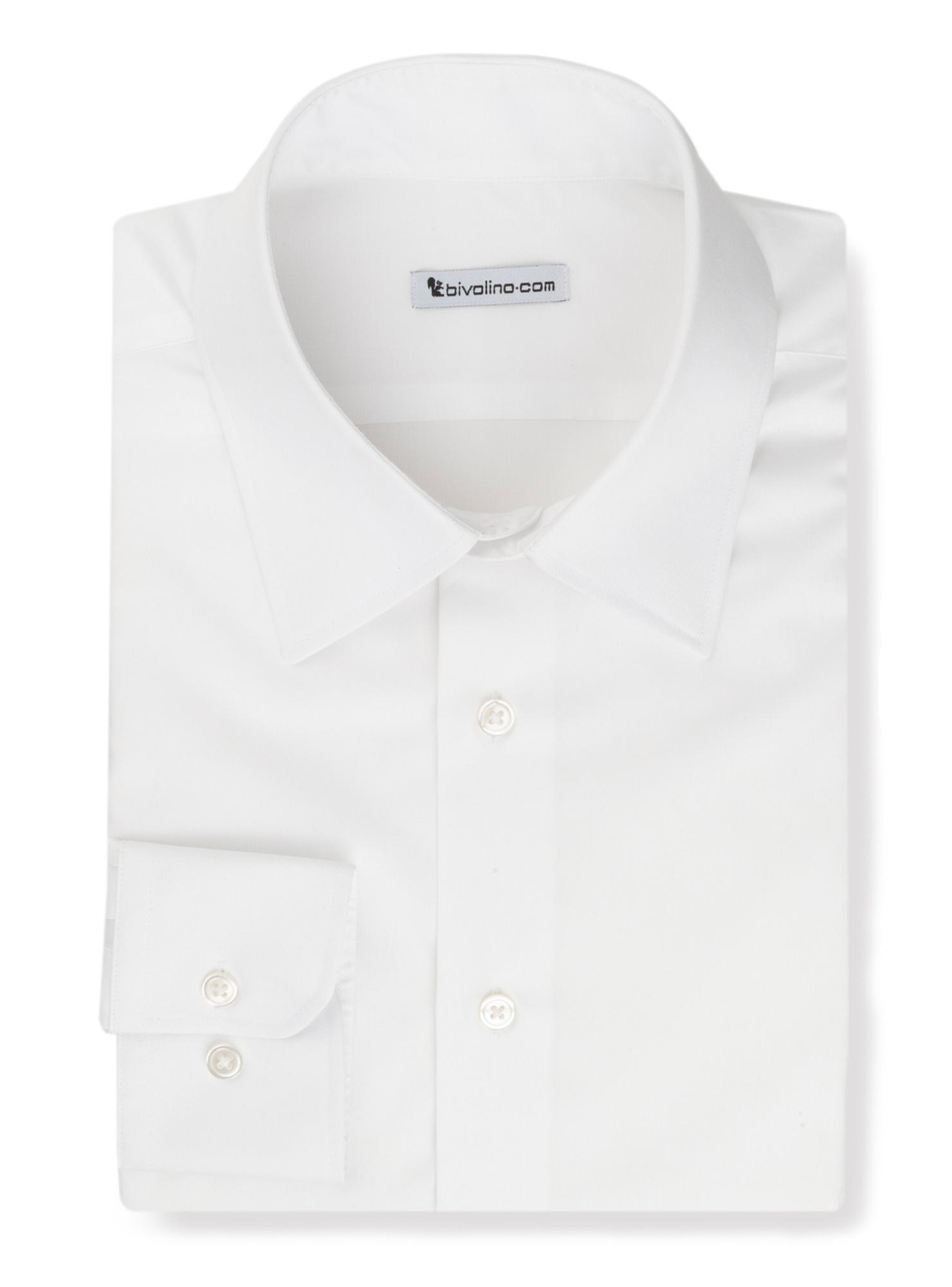 GABRIELAZI - Wit strijkvrij heren overhemd - Opal 1