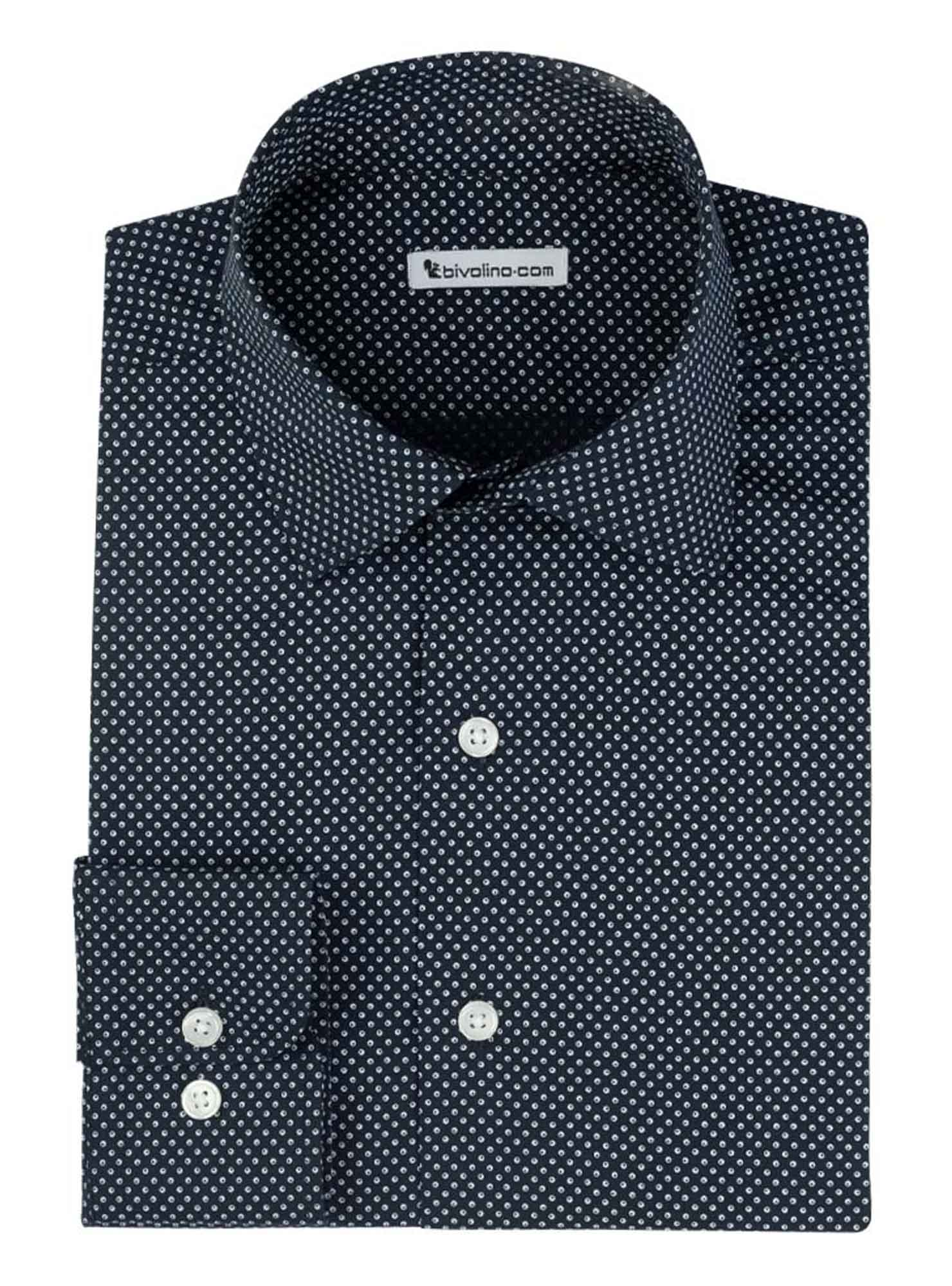 LARIANO  - Men's shirt cotton Micro-Print dots - MICRO 8