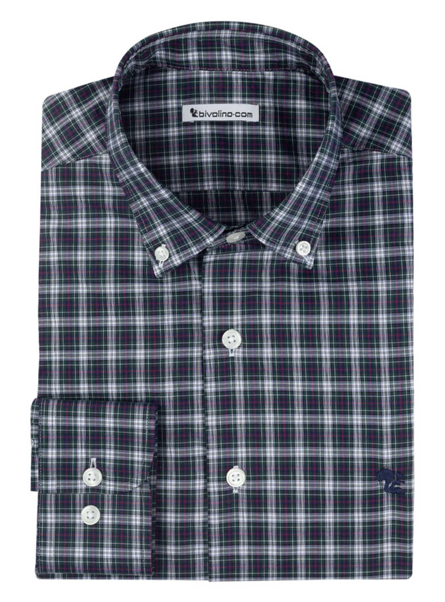 LENCLA - Männerhemd Baumwolle  zephyr - SCOTT 1