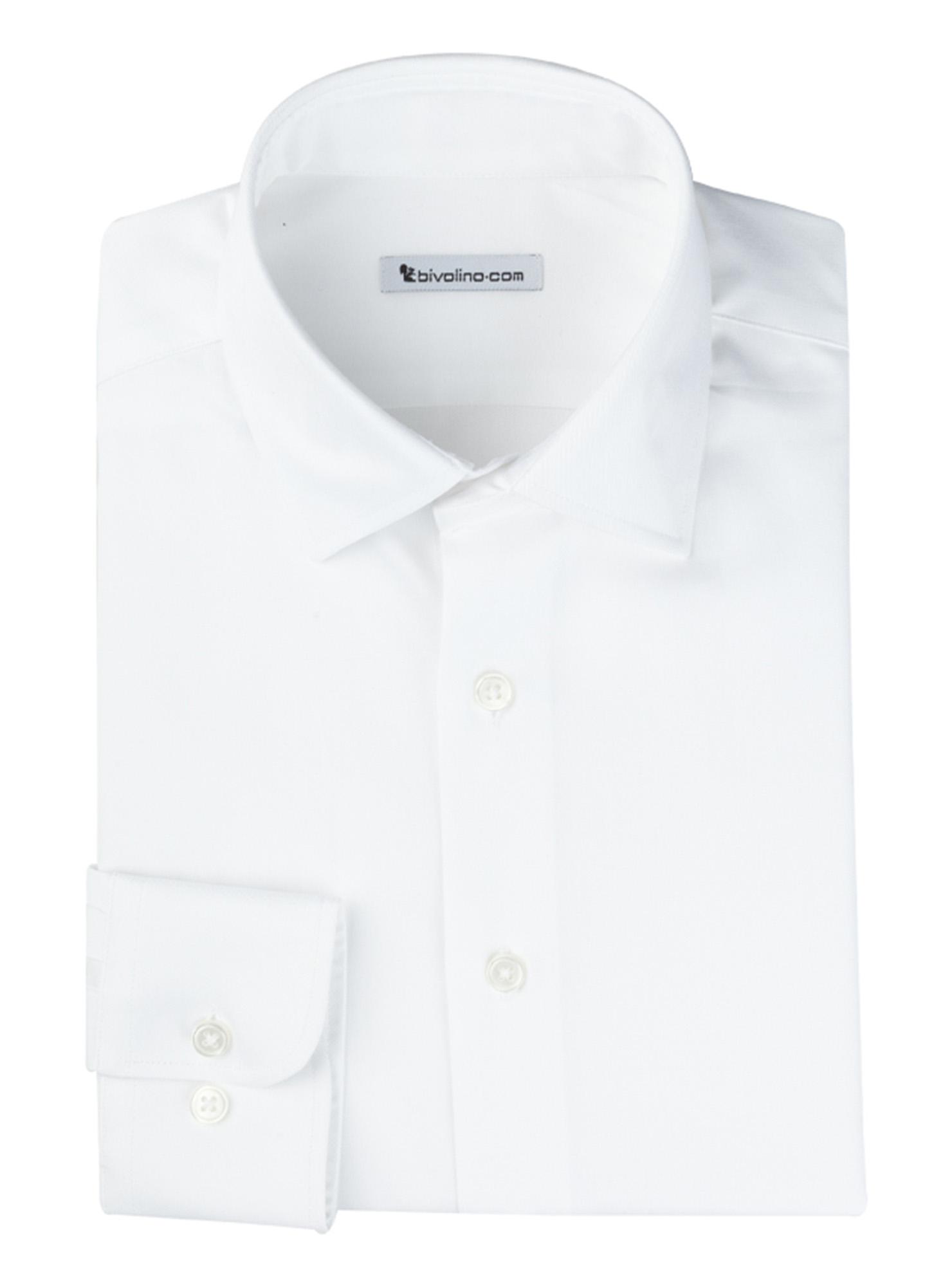 LAZIO - chemise homme coton double retors égyptien Thomas Mason - RIBU 1