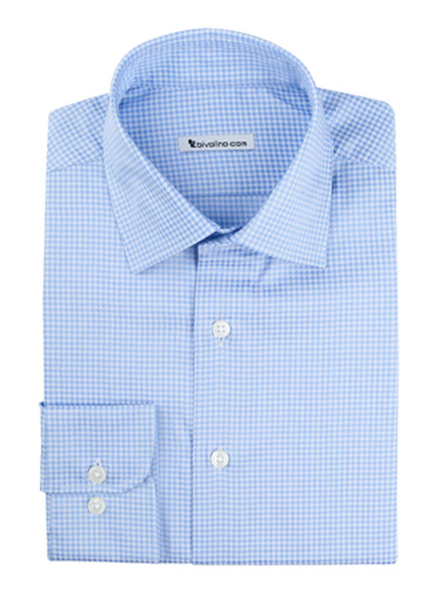 VELLETRI  - men's shirt cotton two-fold 2ply Egyptian - Dobby dots-pattern- RIGOR 6