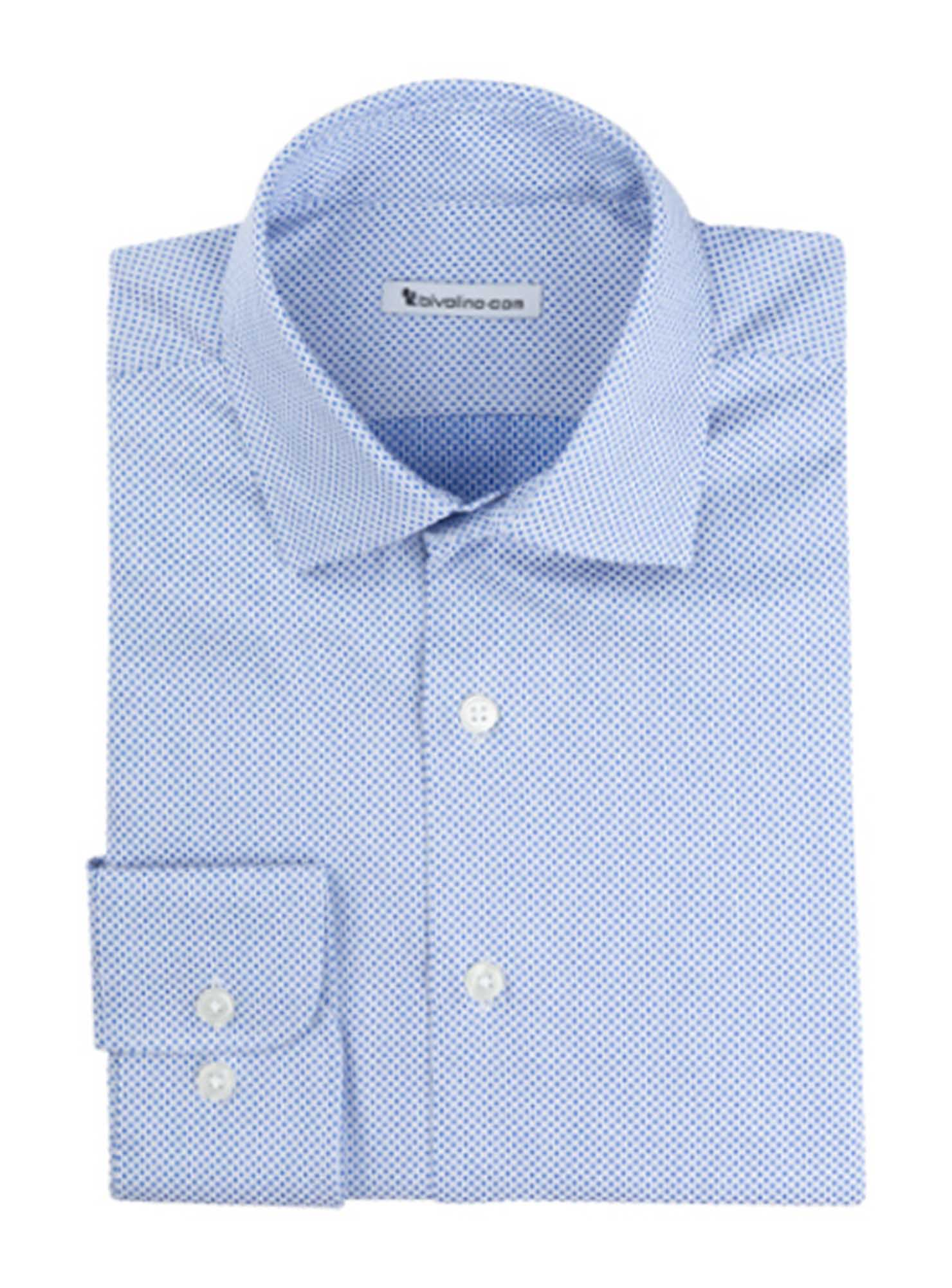 SONNINO  - men's shirt cotton two-fold 2ply Egyptian - Dobby houndstooth - RIGOR 3