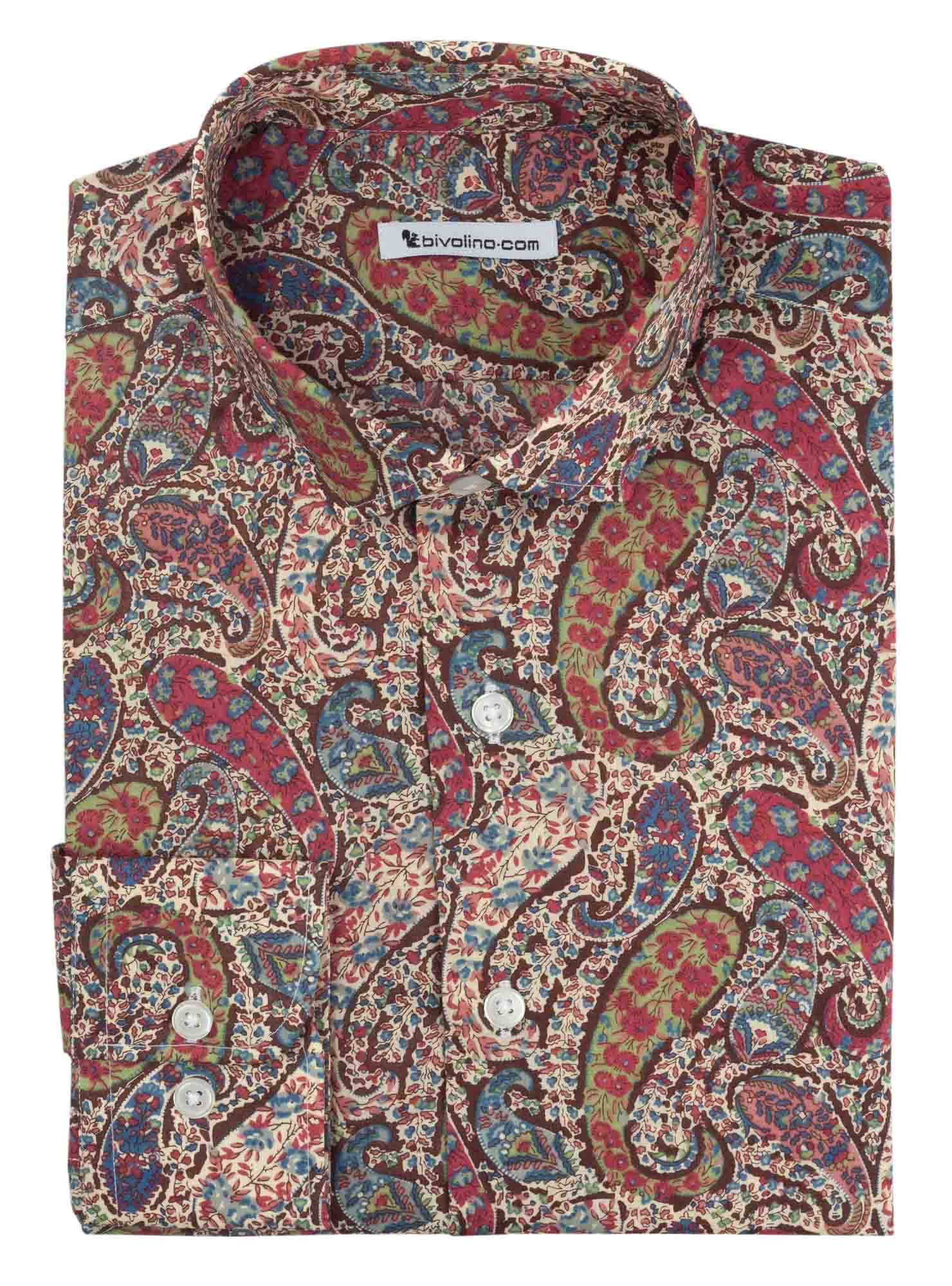 ALBERTIONI - Chemise Homme fleur Liberty of London - Liberty 2