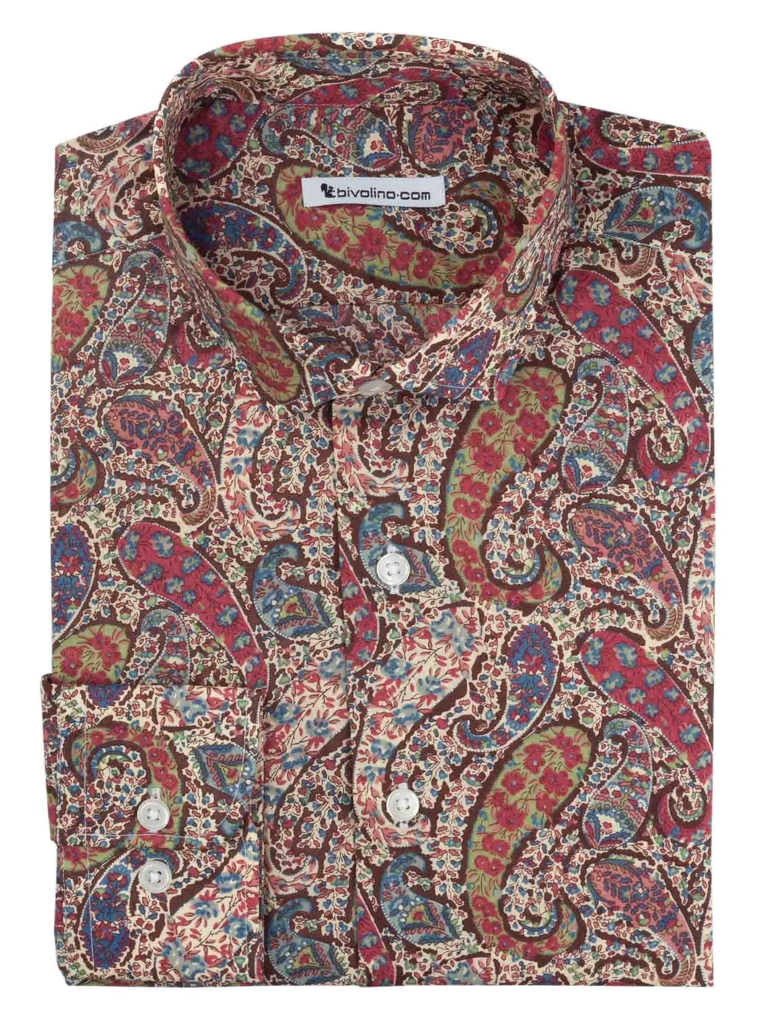 ALBERTIONI -  Liberty of London Flower Men's Shirt  - Liberty 2
